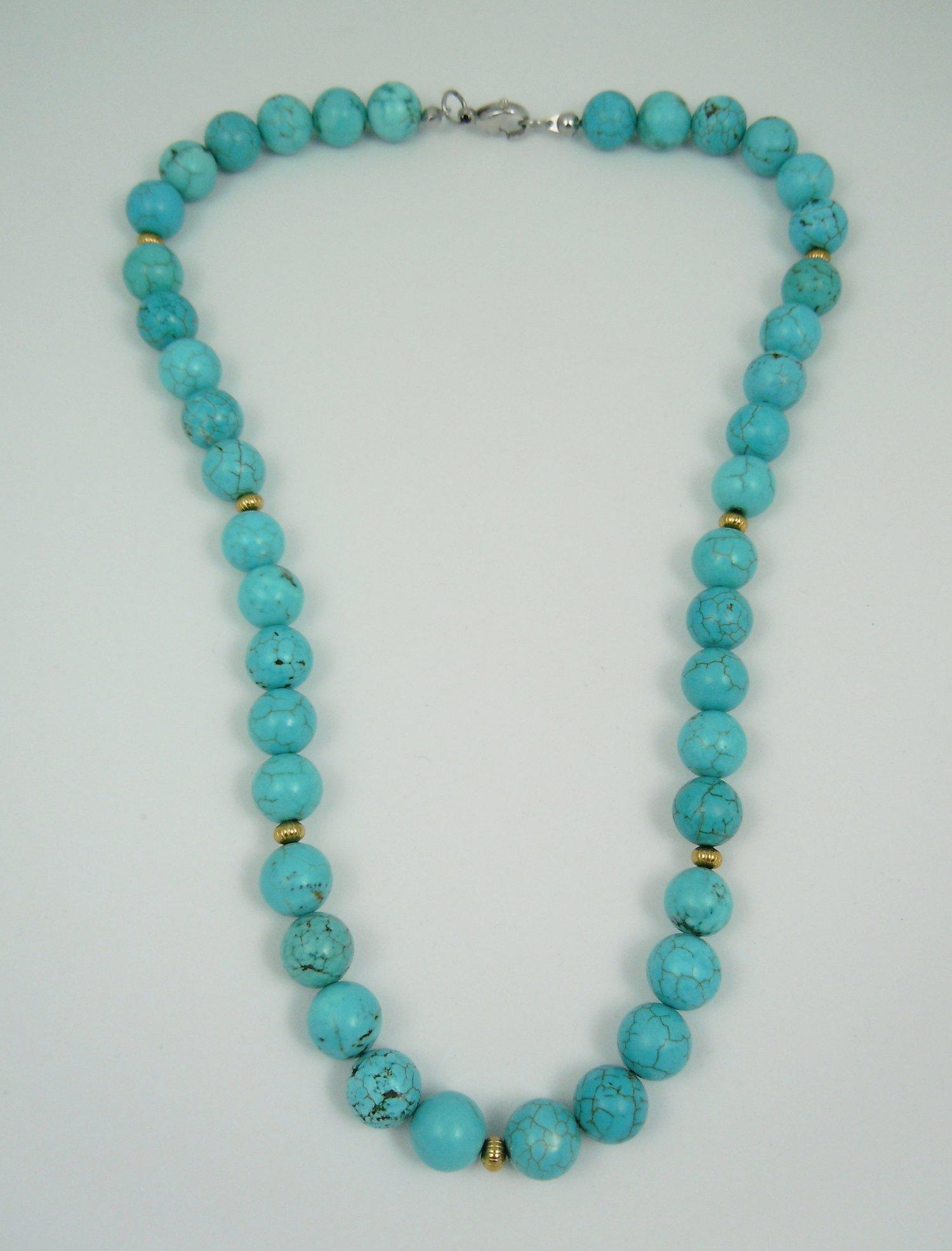 Turquoise Magnesite Minimalist Necklace