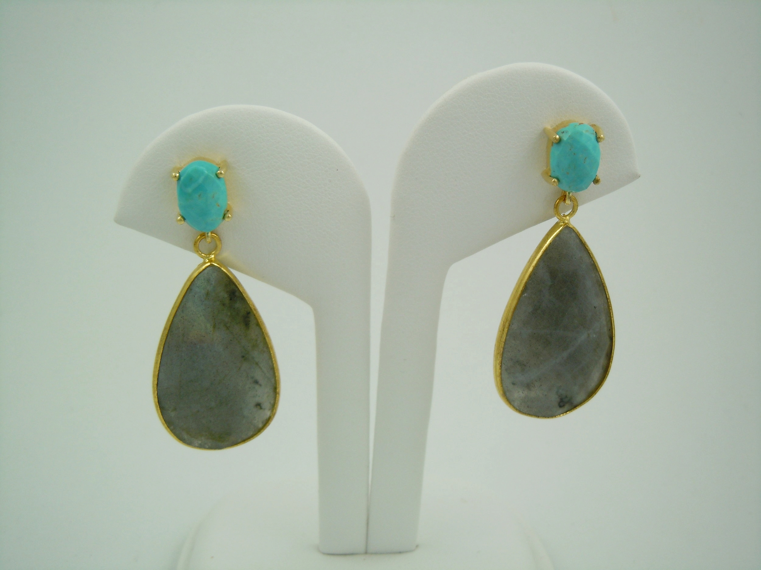 turquoise and labradorite vermeil earrings single side.JPG