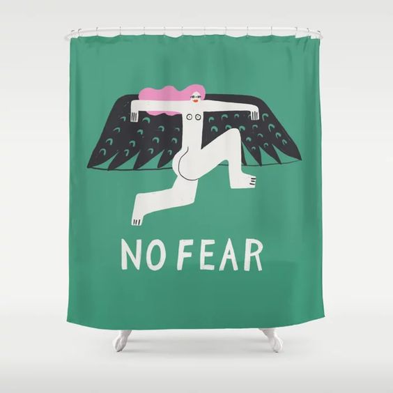 No Fear Shower Curtain |  Shop Here
