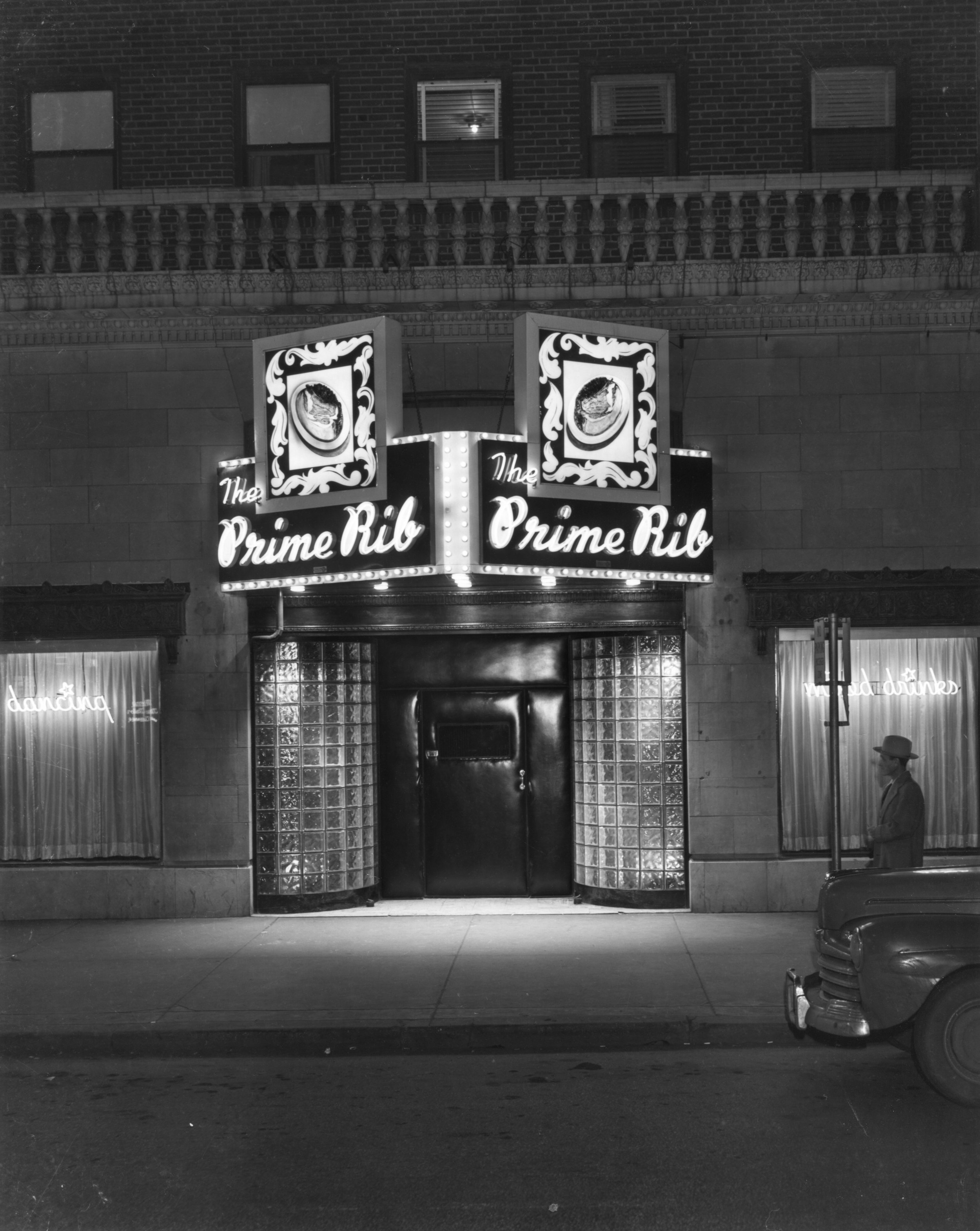 Wilborn Collection The Prime Rib Restraurant in the Hyde Park Hotel 3561 Broadway 1952.jpg