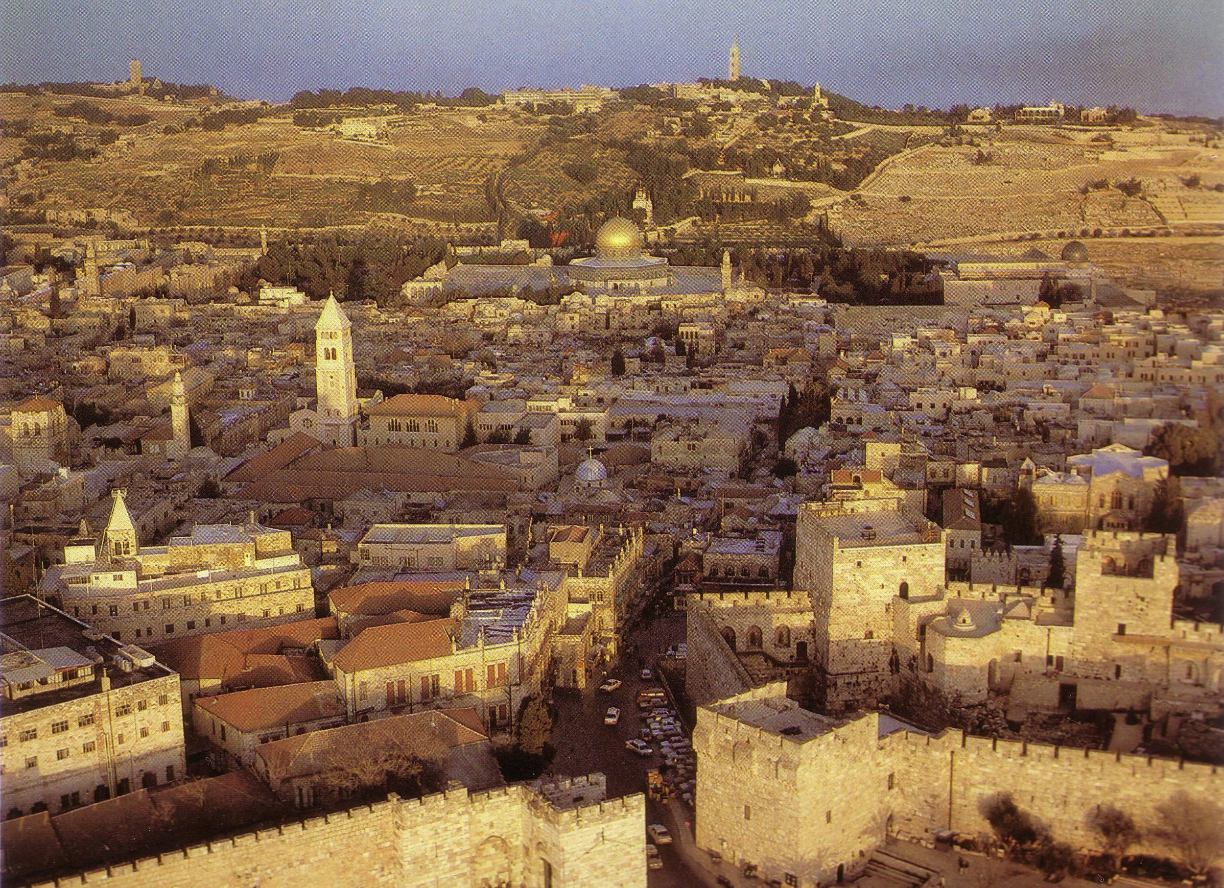 Jerusalem with Mount of Olives beyond