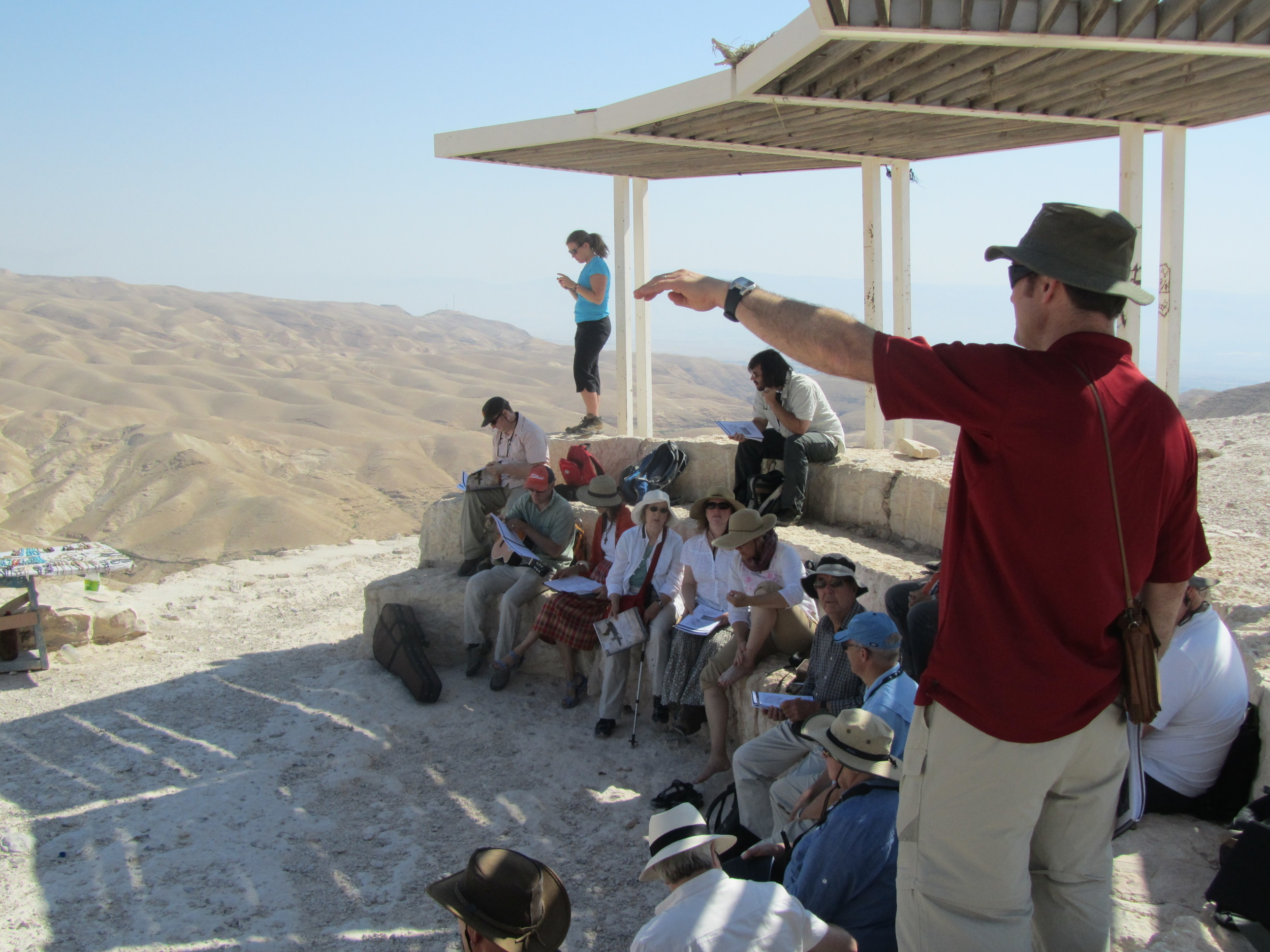 Bob teaching in the Judean wilderness