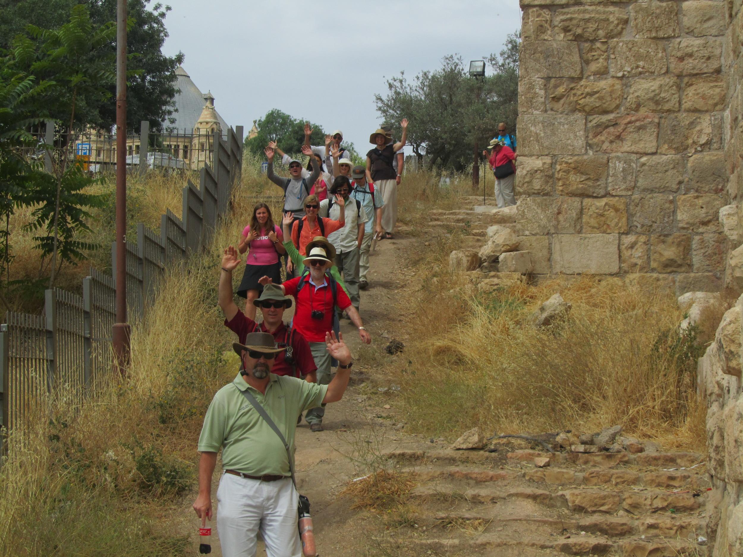 Walking through the Kidron Valley