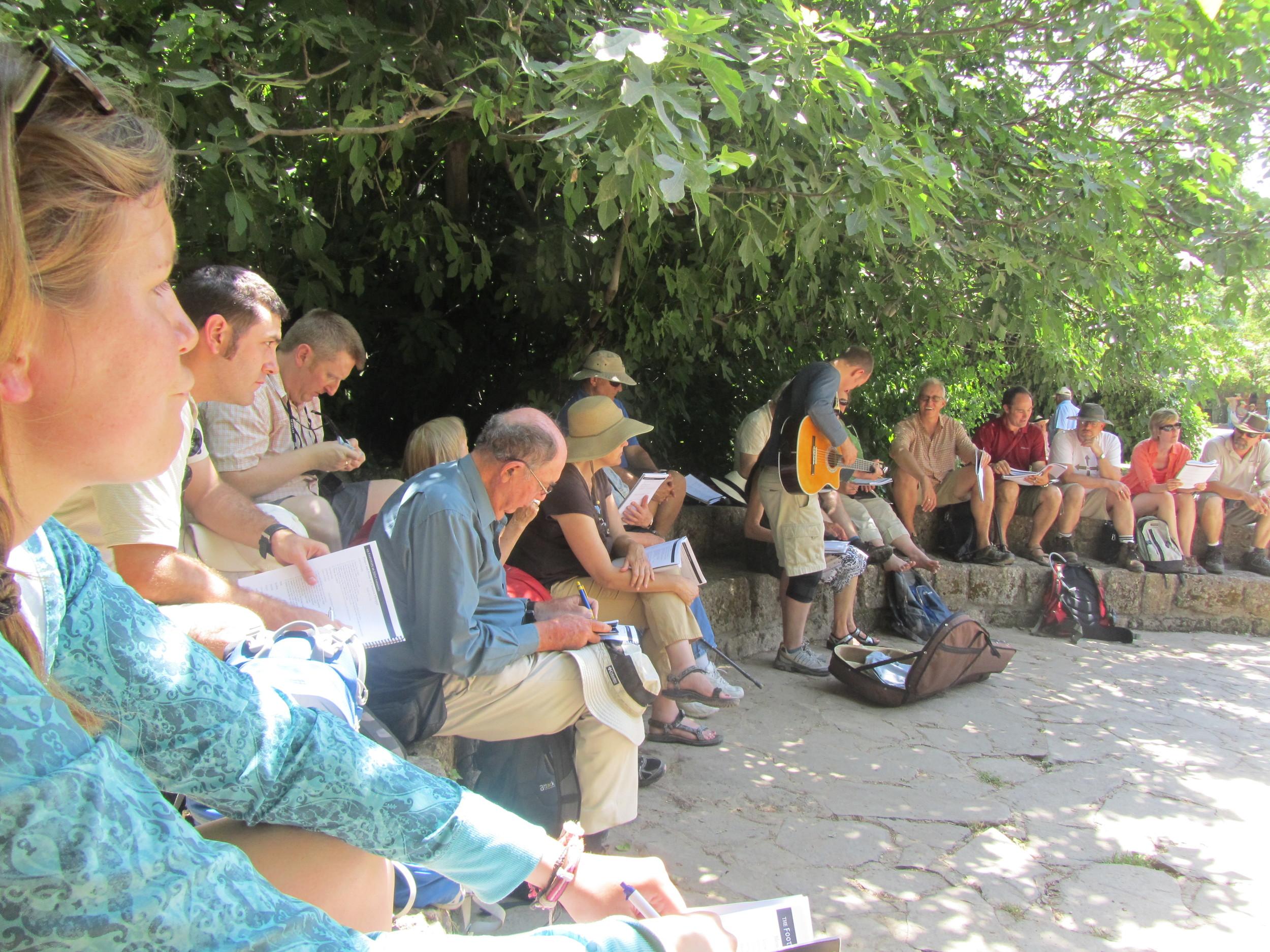 The group at Caesarea Philippi