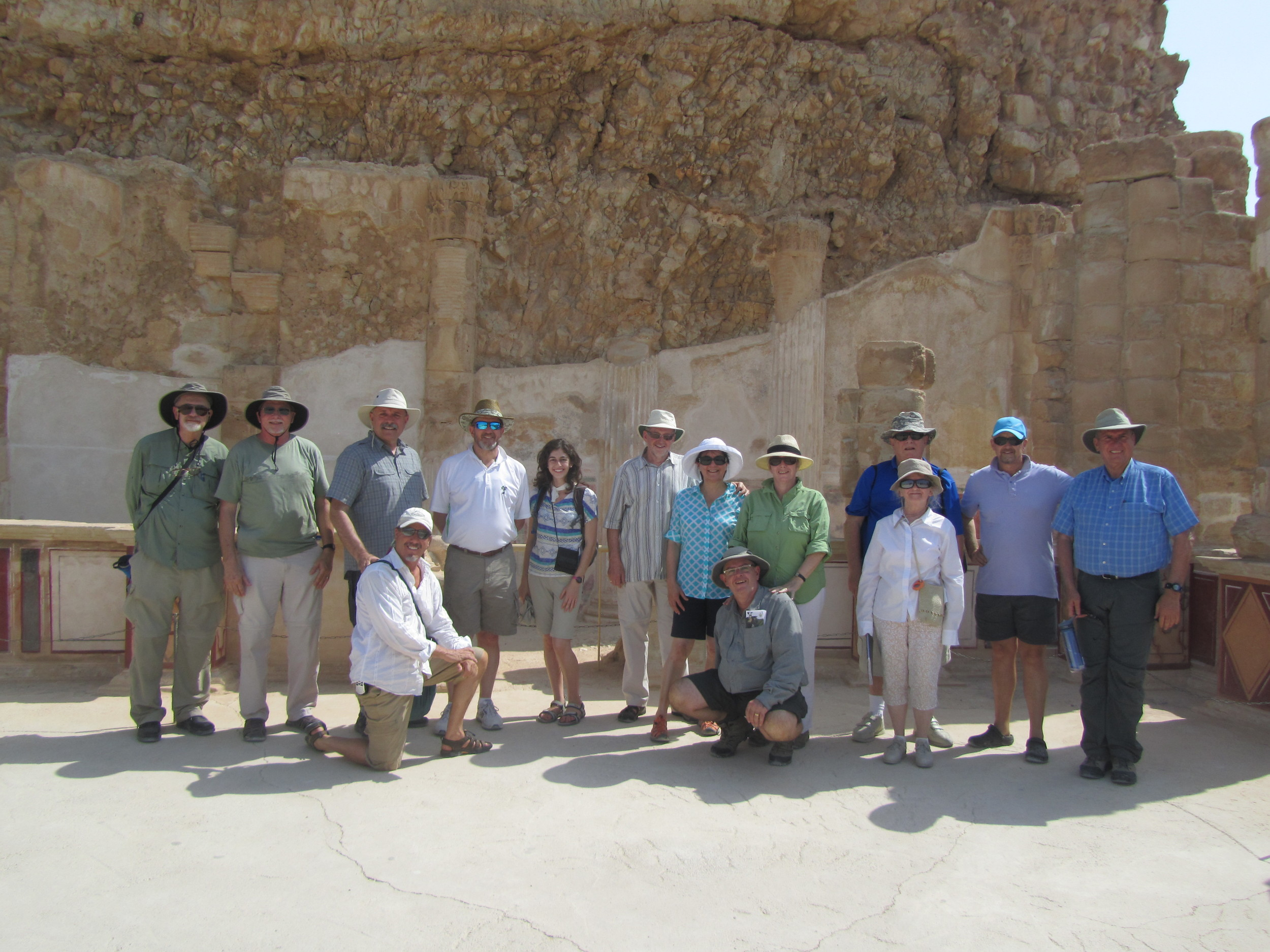 Some of our group of pilgrims at Masada