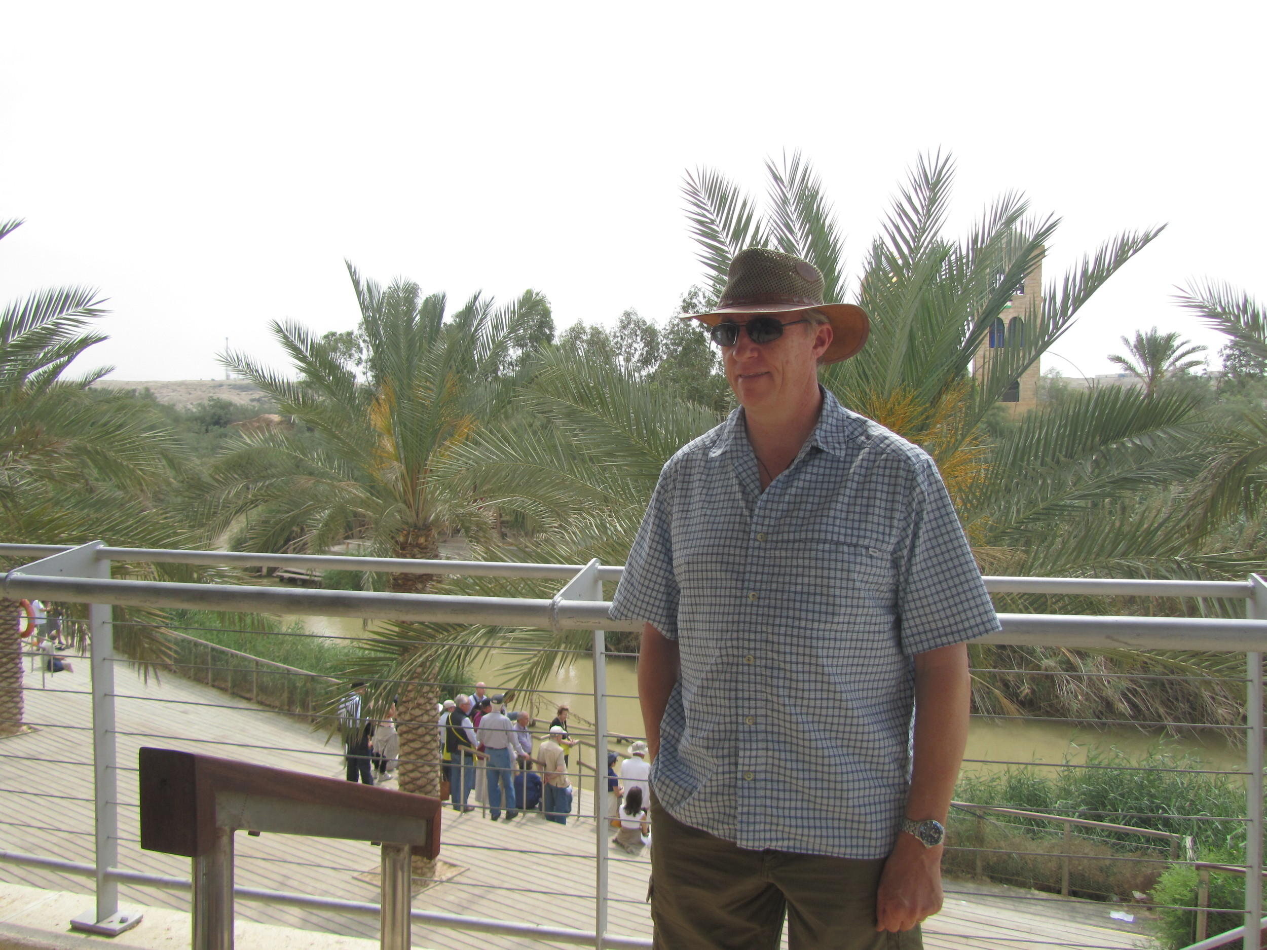 Mike Breen teaching on the Baptism of Jesus at the edge of the Jordan River