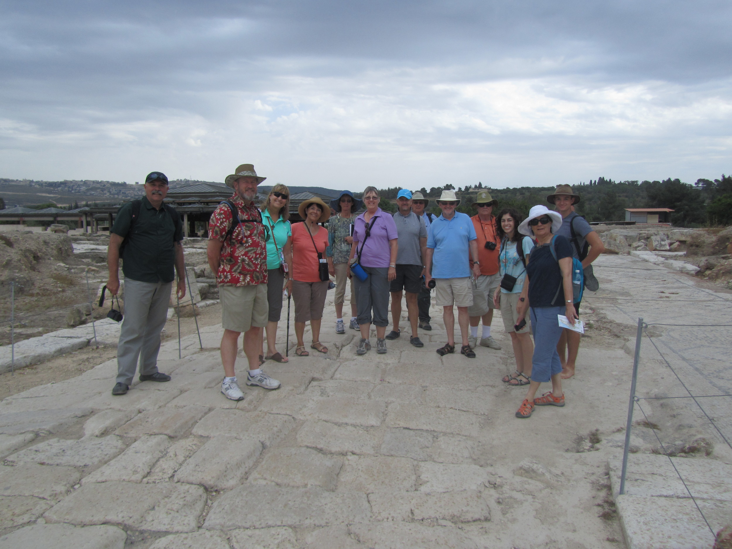Some of our group on the ancient streets of Sepphoris