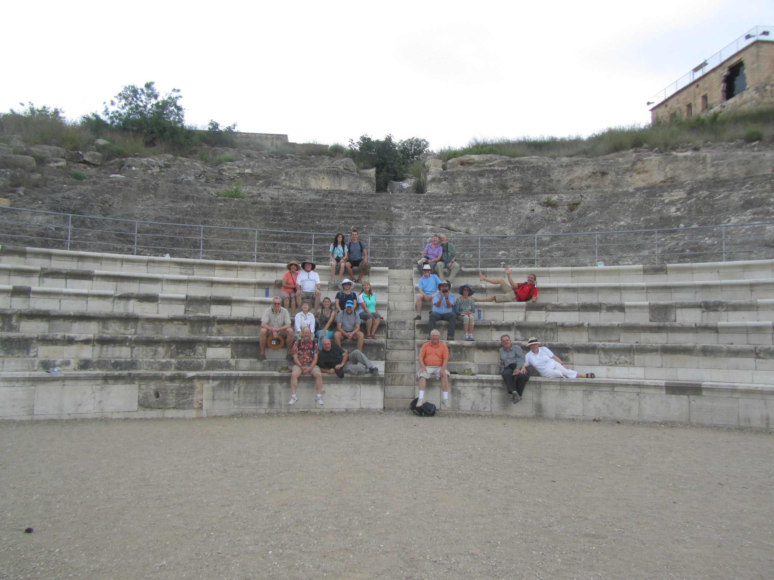 Our group in theamphitheaterof Sepphois