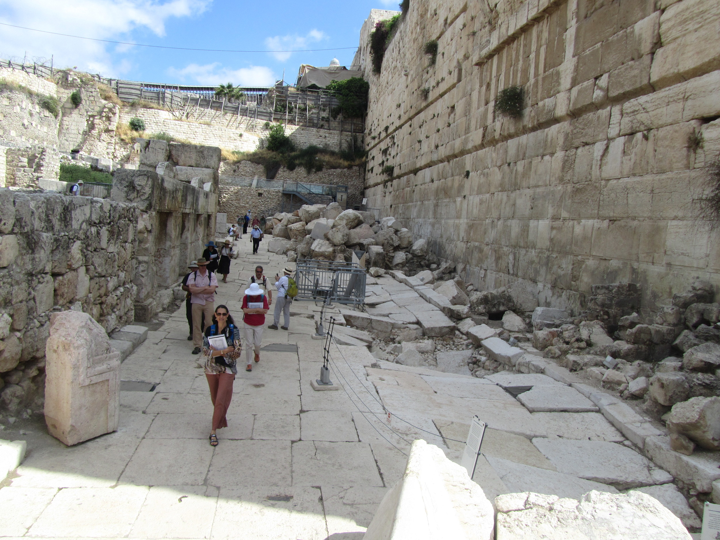 We walked the Herodian Streets around the southern Temple Mount which Jesus and the disciples walked