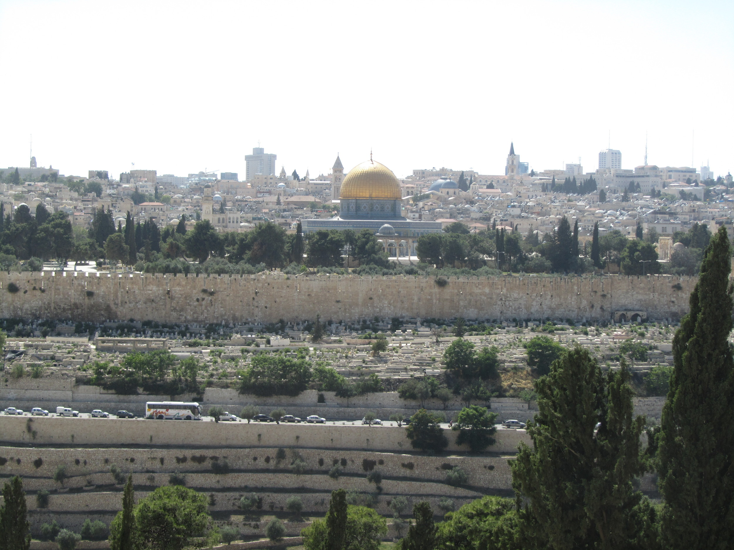 The city of Jerusalem viewed from the Mount of Olives