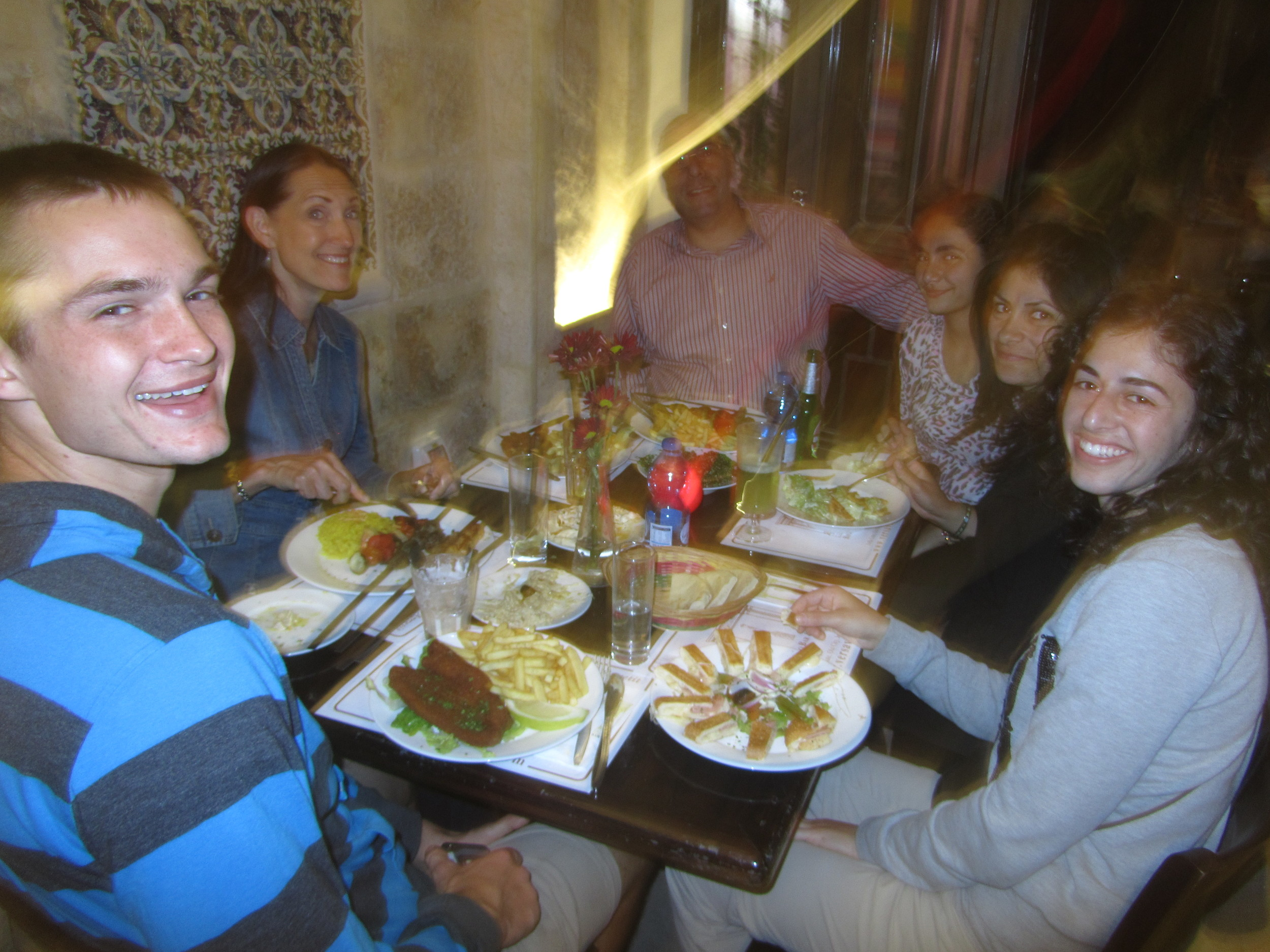 Our lovely dinner with our dear friends Yousef and Rula Katanasho and their wonderful extended family