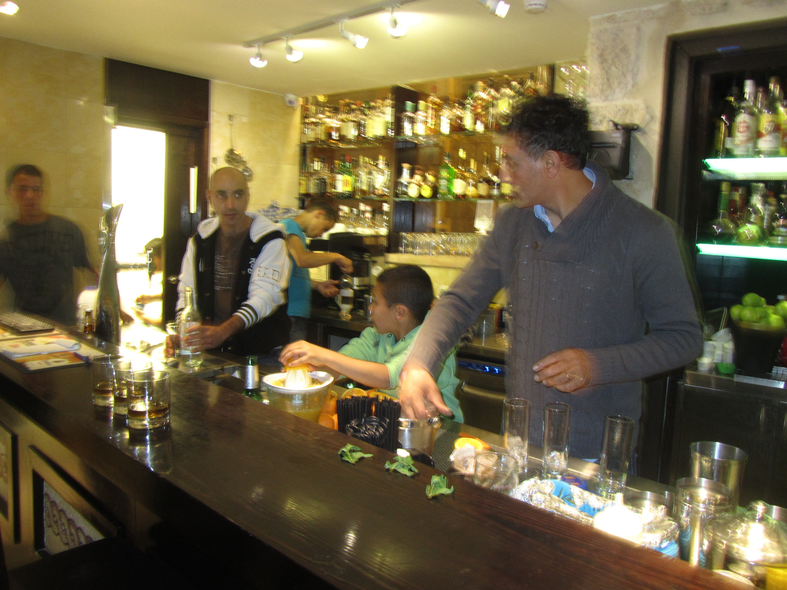 The extended Katanasho family working together to run their beautiful restaurant, Versavee in the Old City