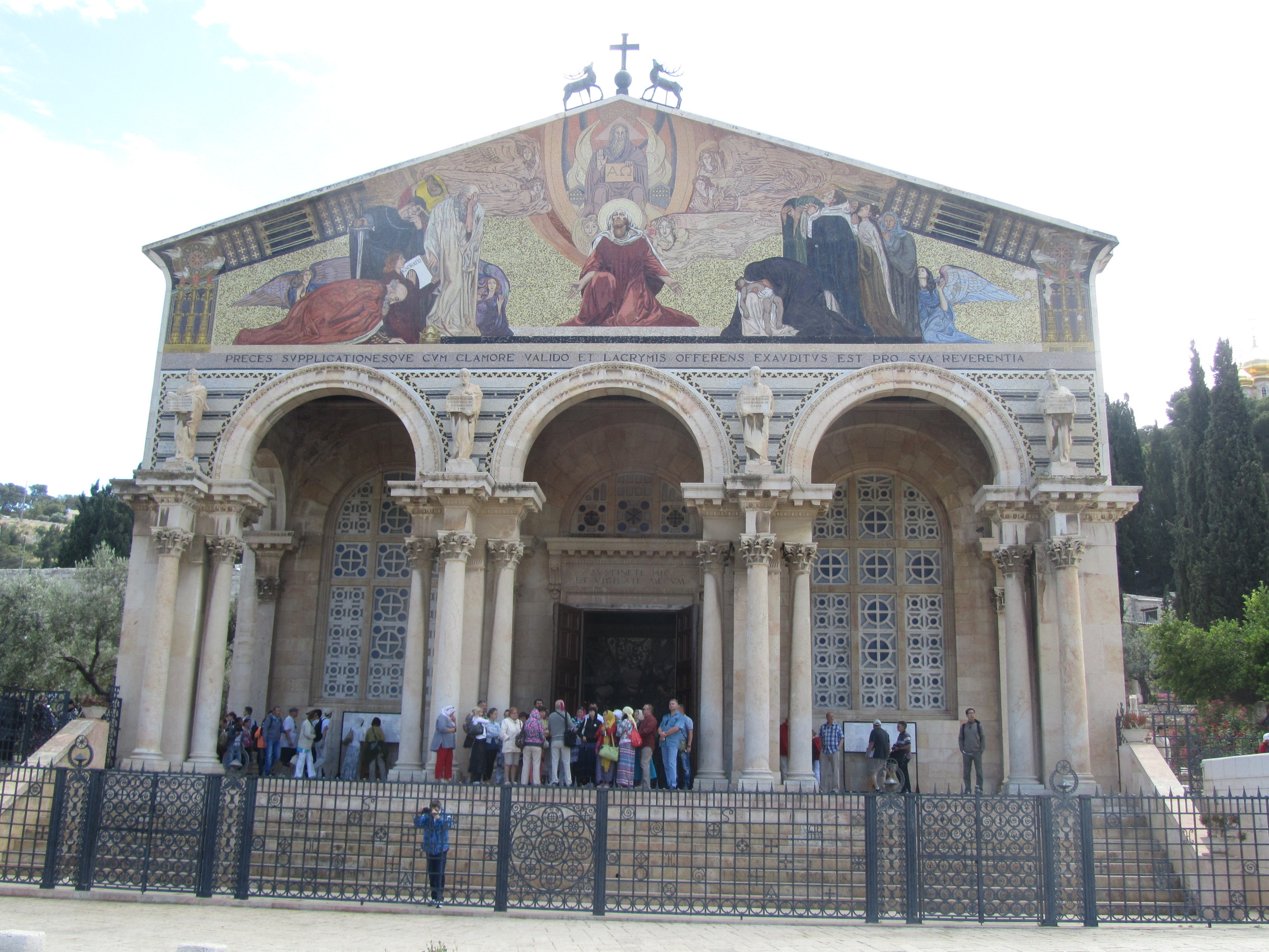 The Church of All Nations, built over the traditional site of Jesus' prayer at Gethsemane