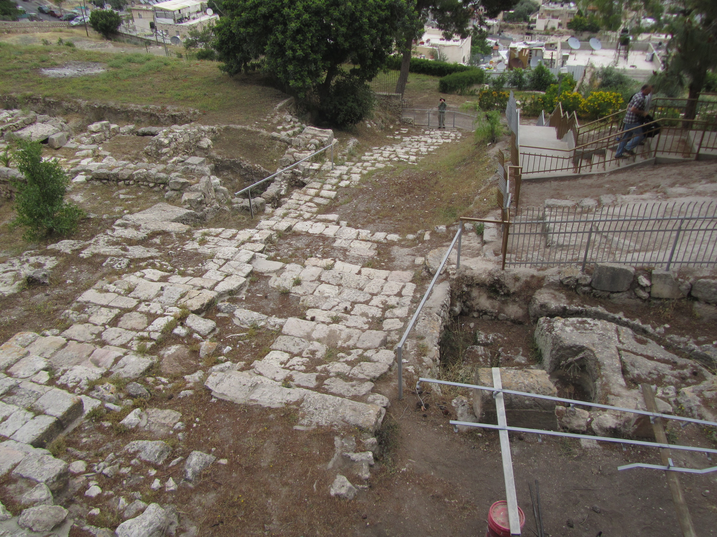 A stepped street from the time of Jesus