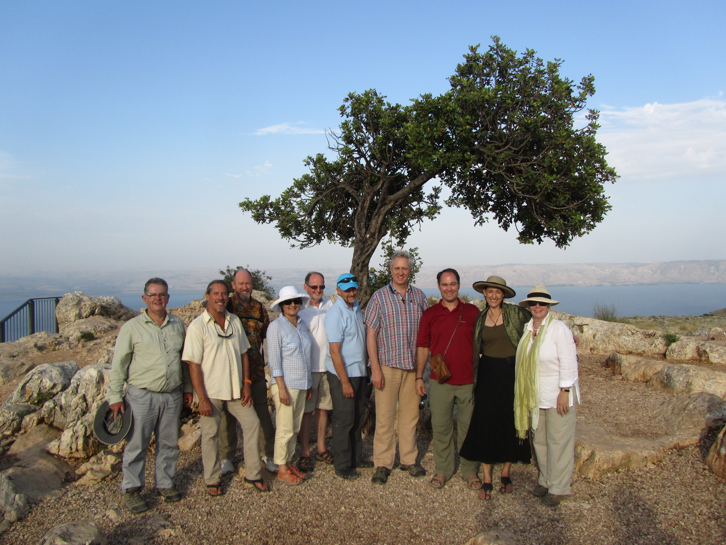 On the Cliffs of Arbel over-looking the Sea of Galilee