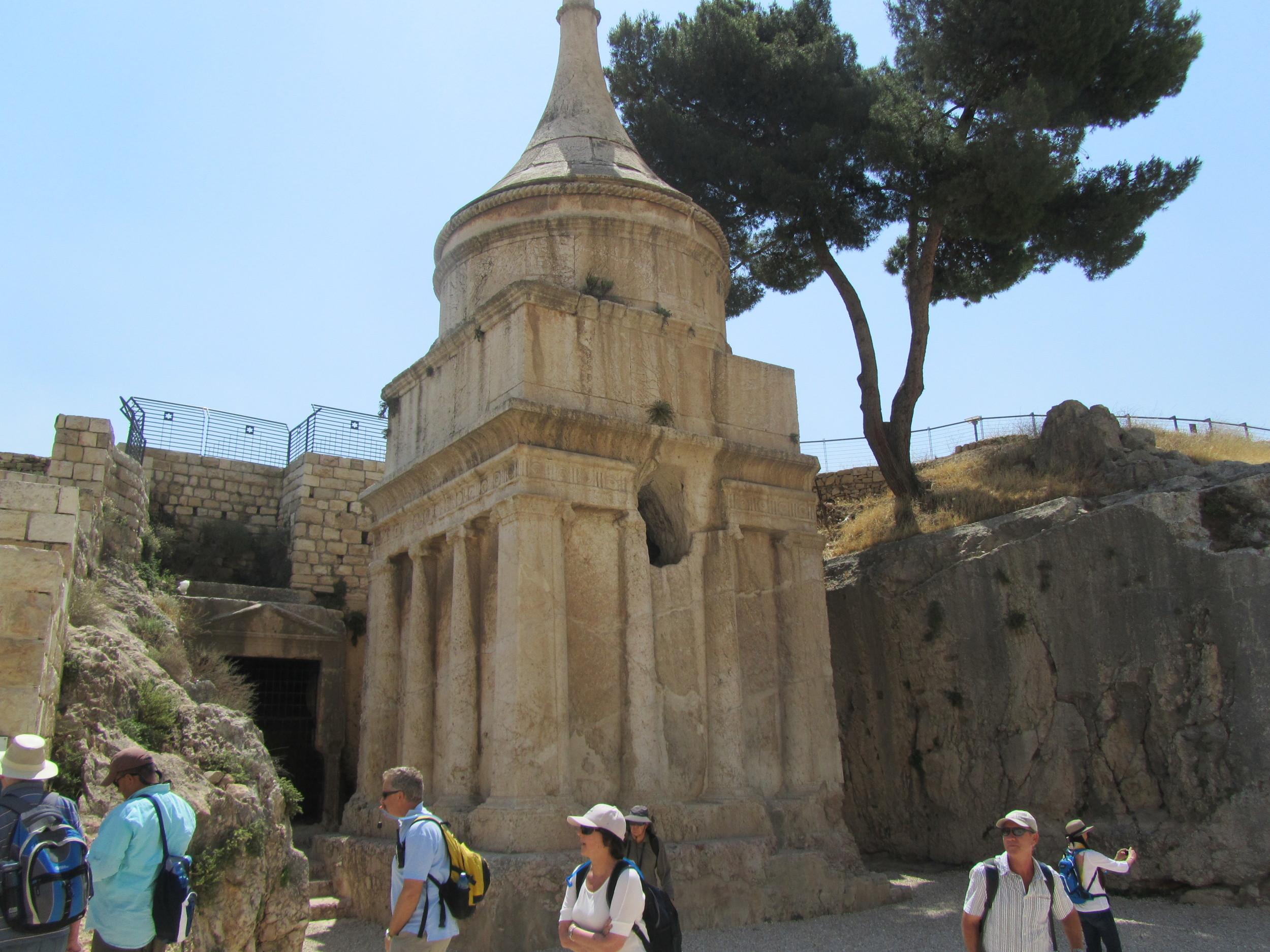 Walking through the Kidron Valley next to Absolom's Pillar