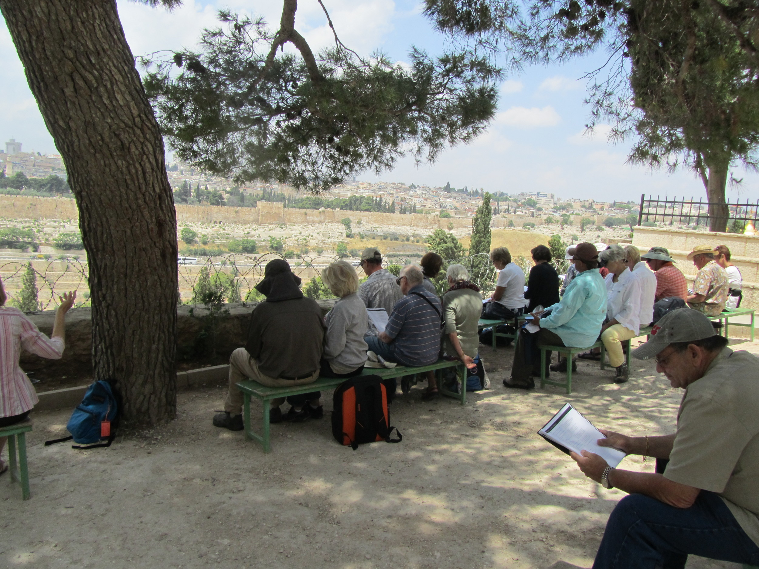 Worshiping on the Mount of Olives