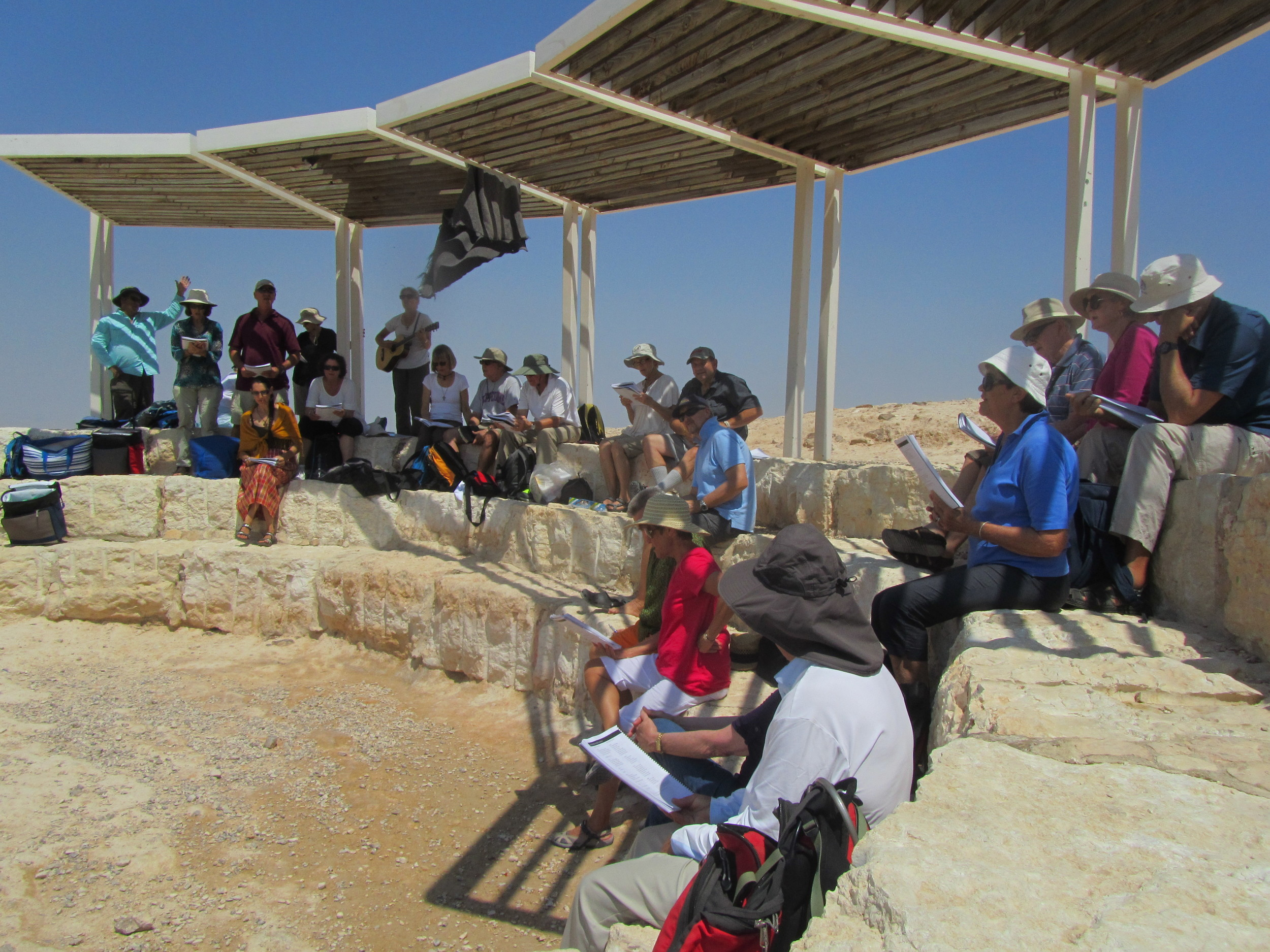 Worshiping in the Judean Desert Where Jesus Fasted and Was Tempted