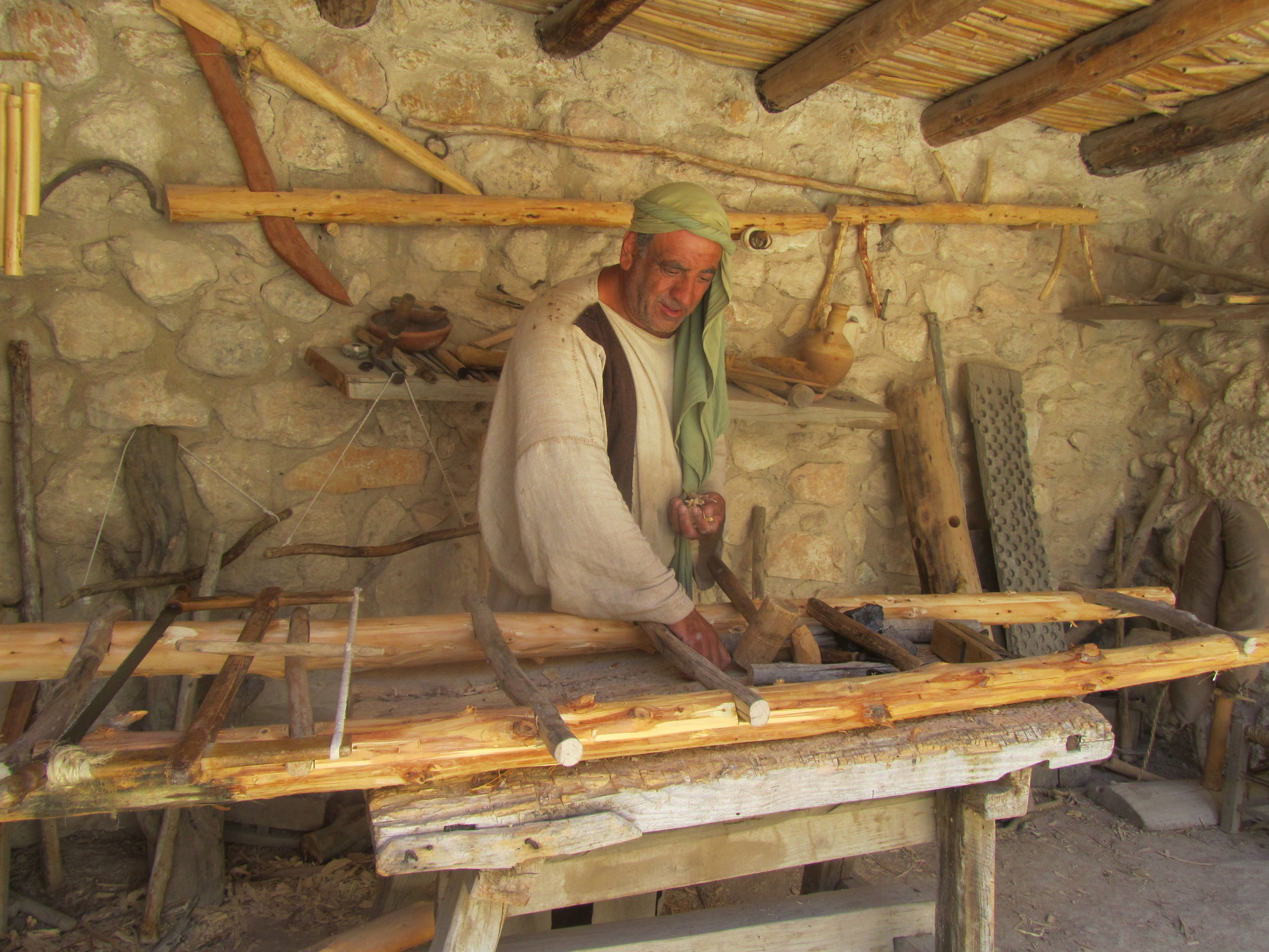 Demonstration of a First Century Carpenter at Work