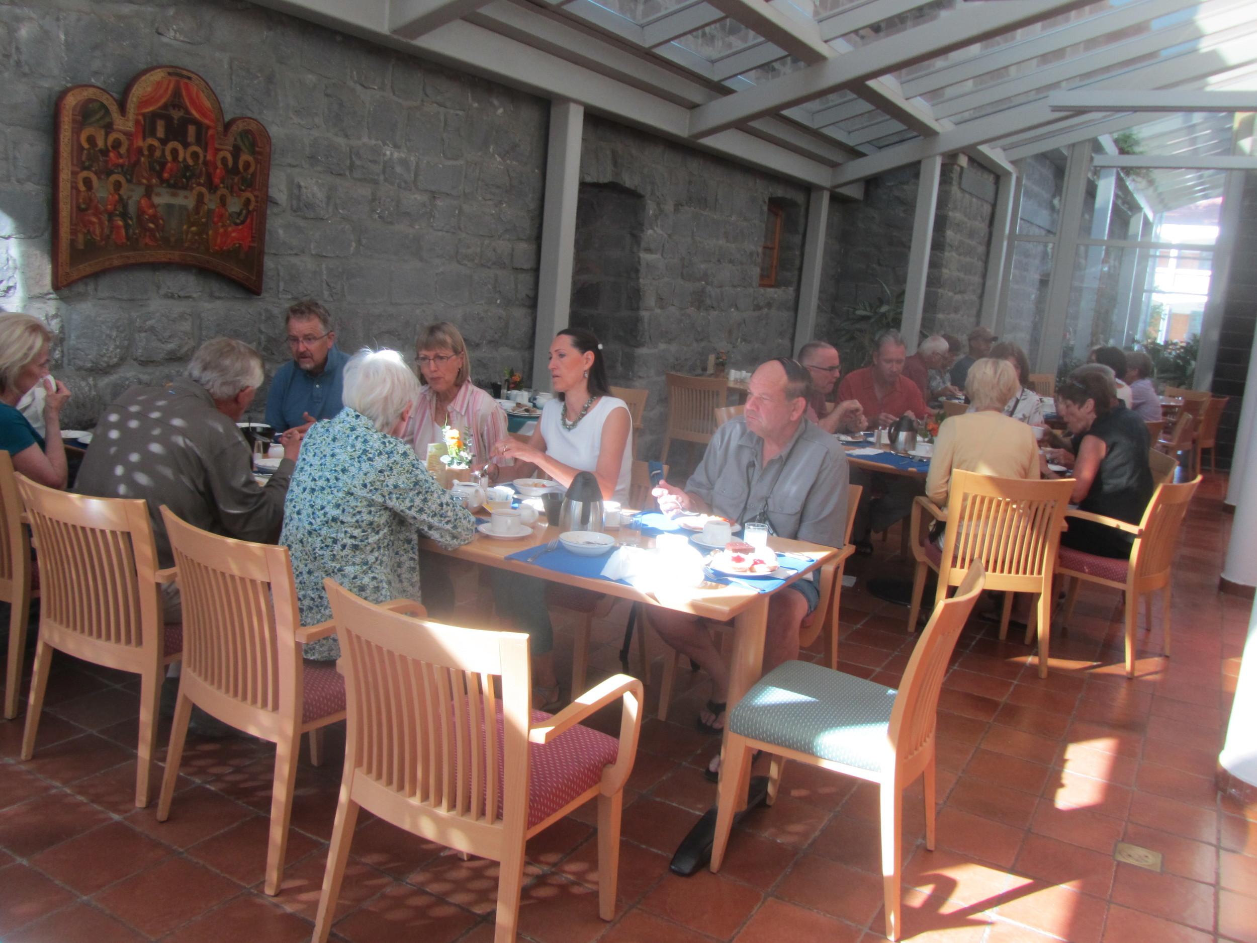 Breakfast in the Lovely Dining Room of Tabgha Pilgerhaus