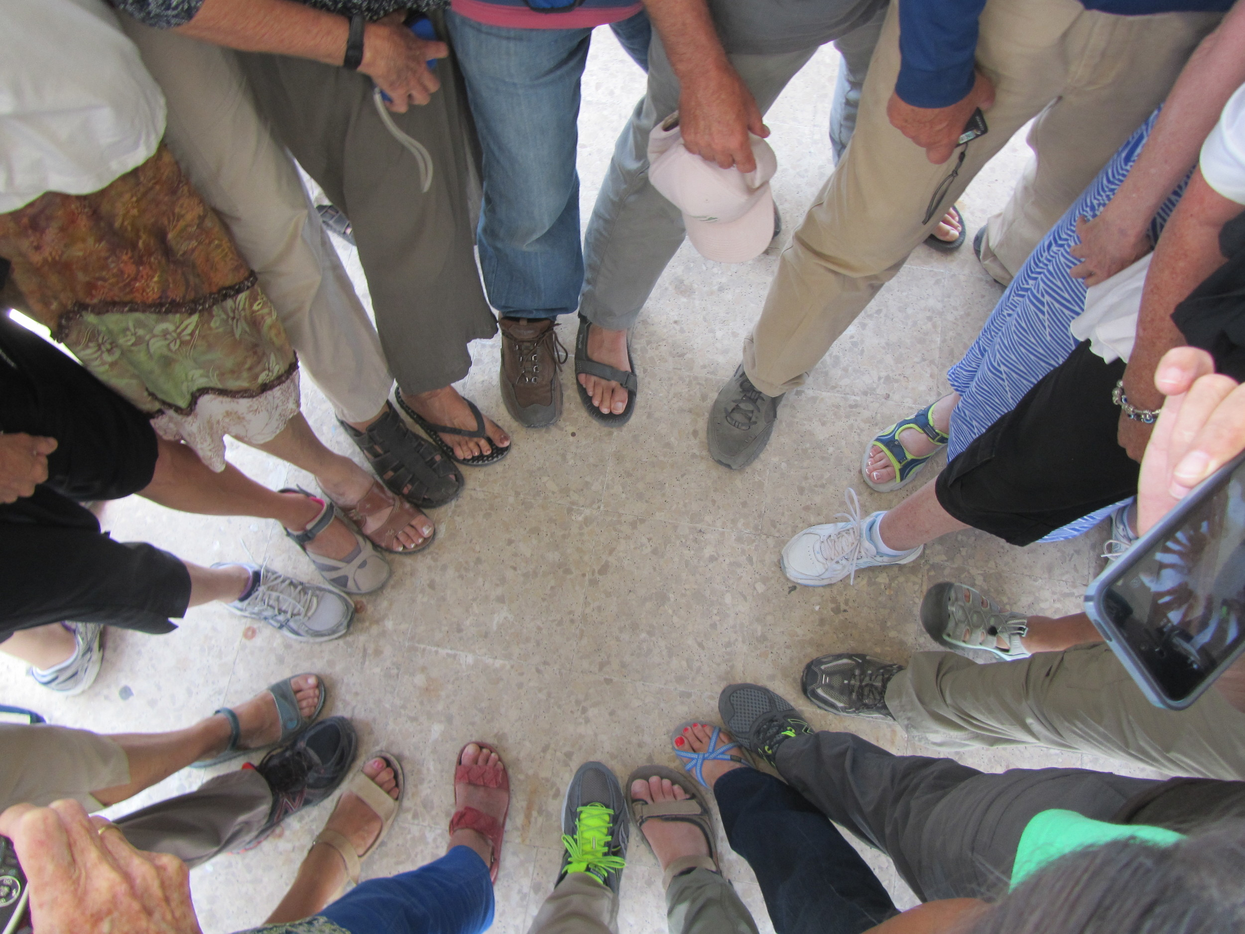 Most of the Feet That Have Been Walking in the Footsteps of Jesus