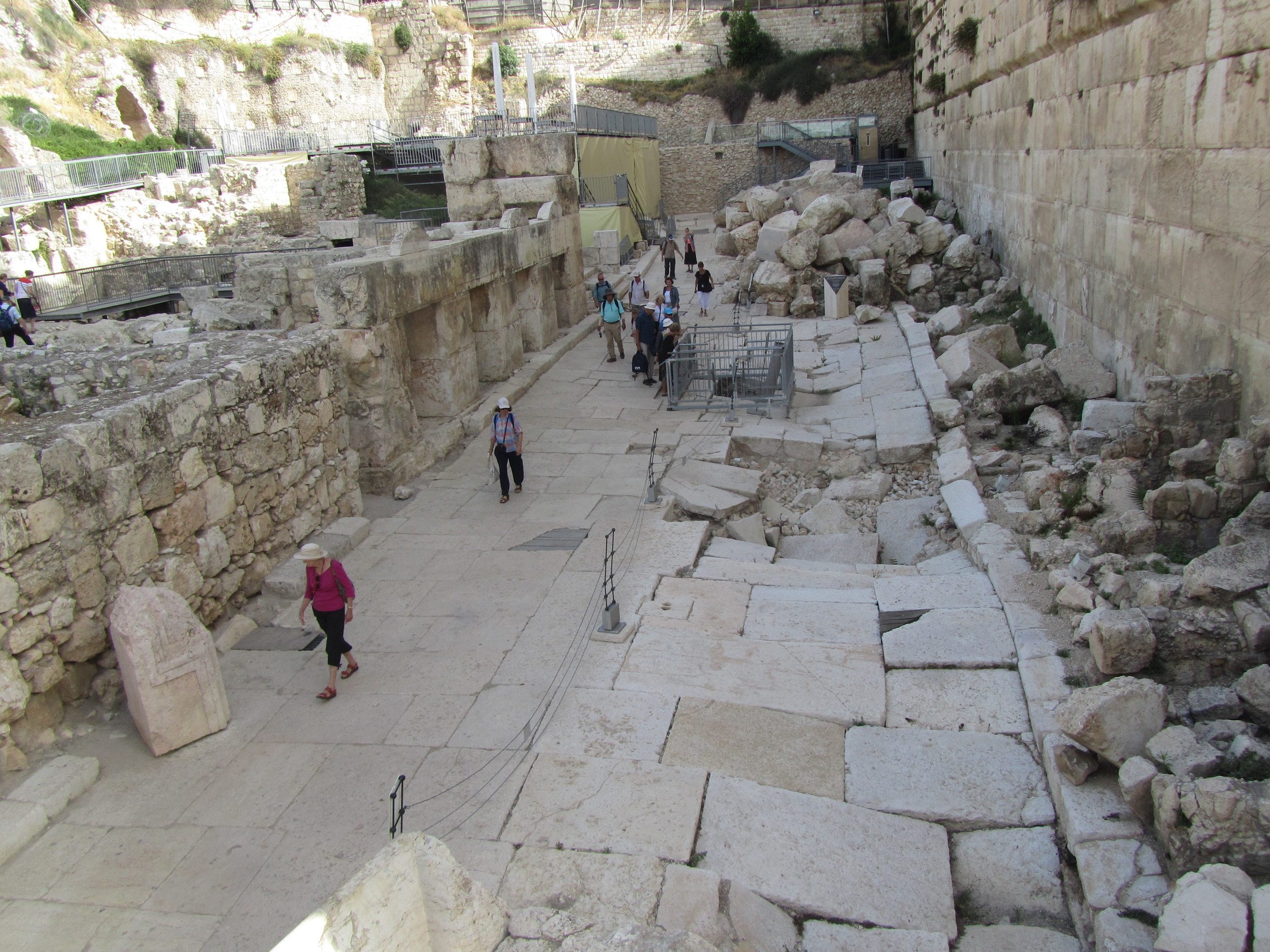 Walking the First Century Street Below the Temple Mount