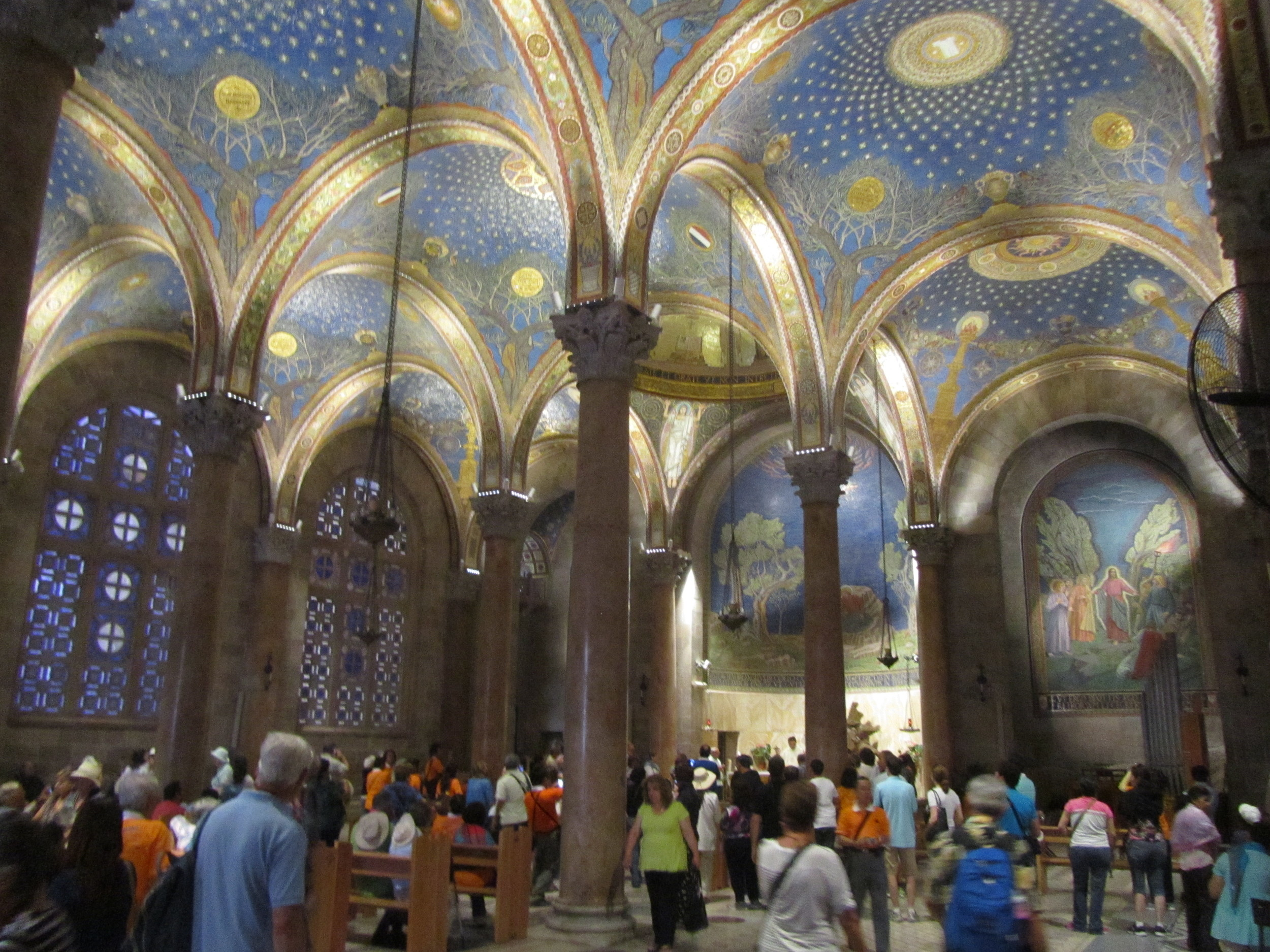 The Interior of the Church of All Nations in Gethsemane