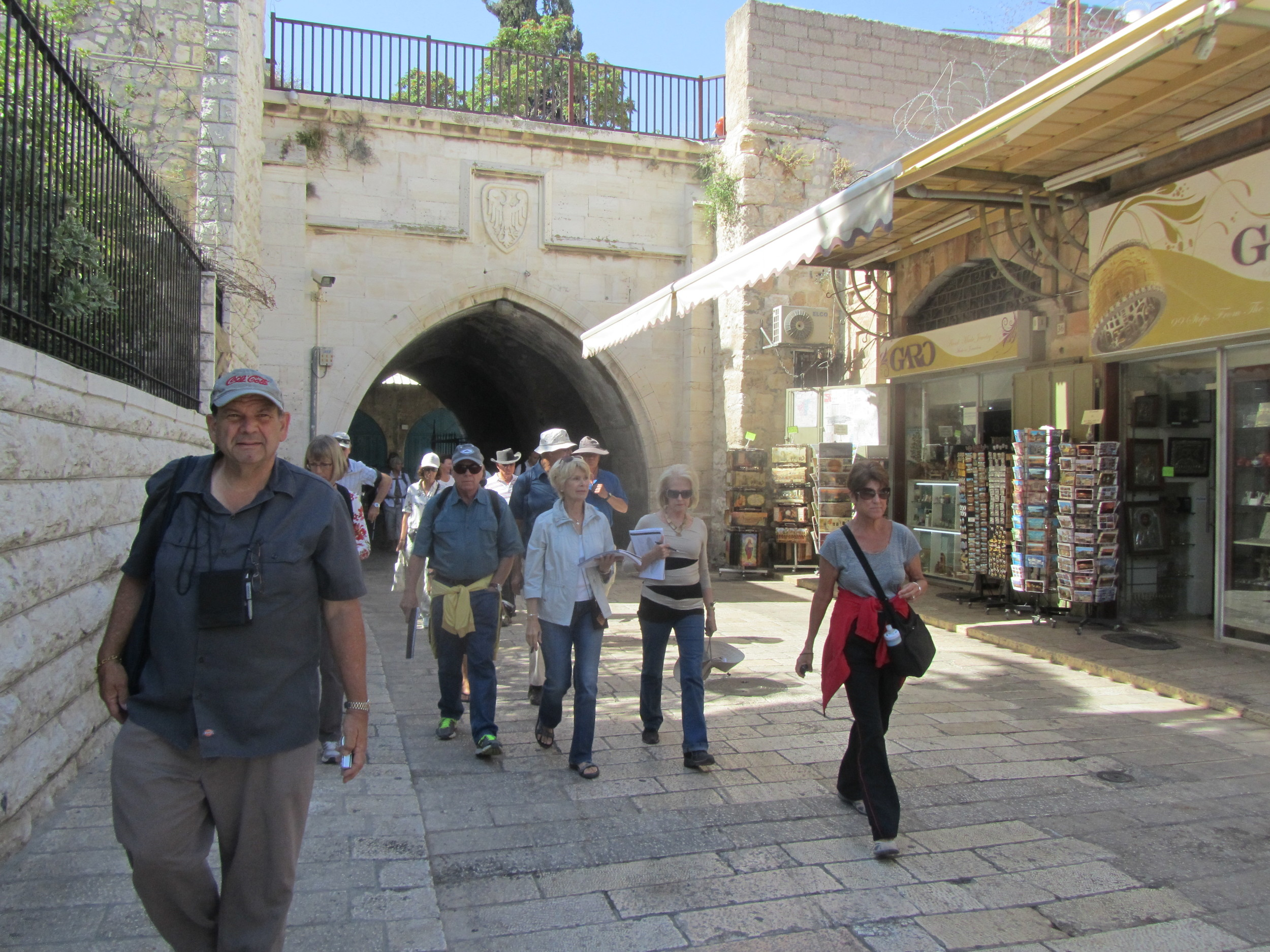 Following the Historical Route on Which Jesus Carried His Cross