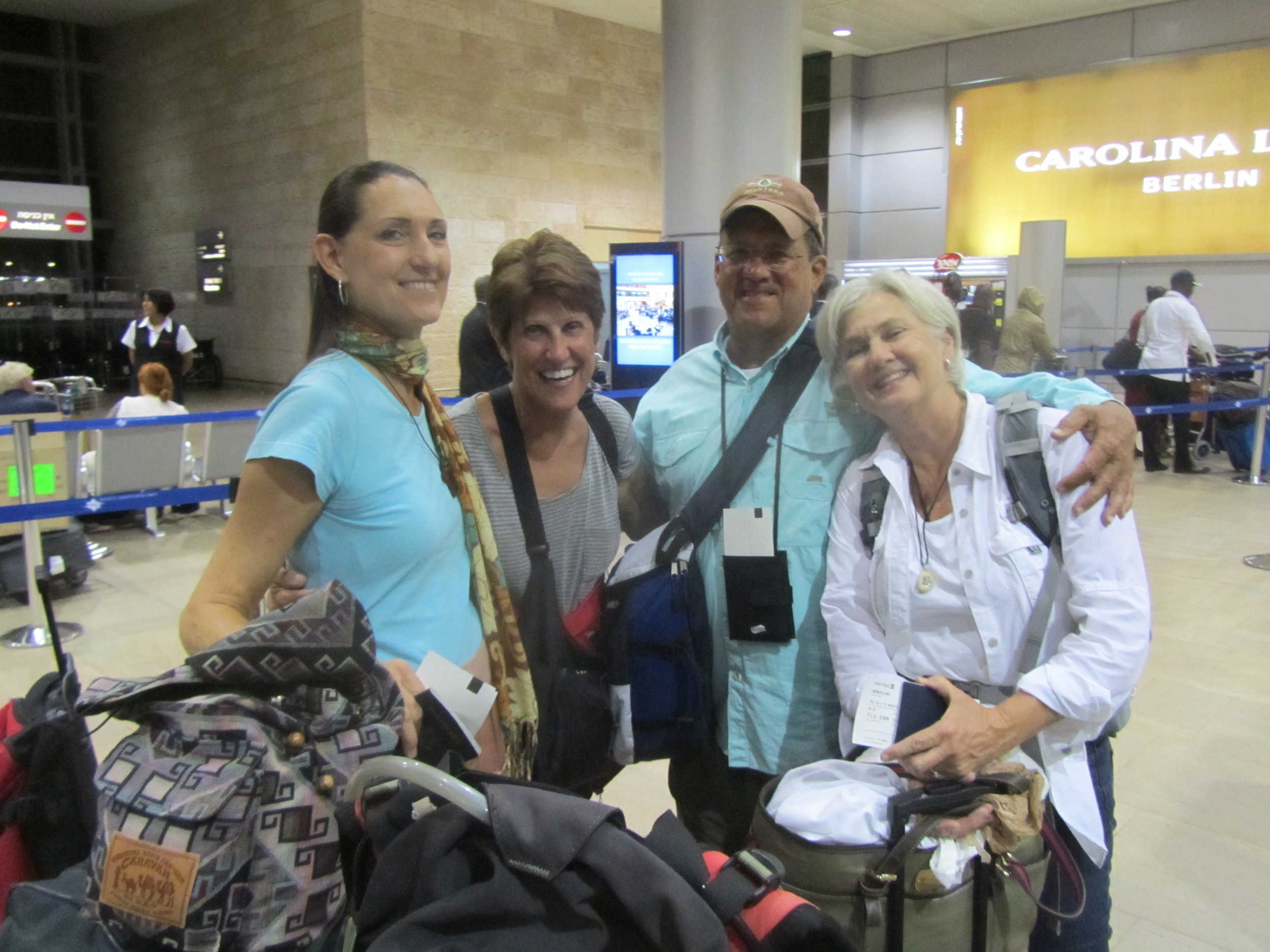 Saying our Goodbyes at Ben Gurion Airport with the McMurrys and McSwains!