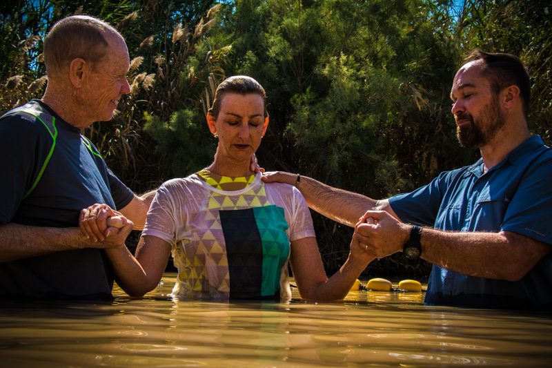 It was a joy to celebrate with Margie, our new friend from Australia, as she renewed her baptismal Covenant in the very place where Jesus was baptized!