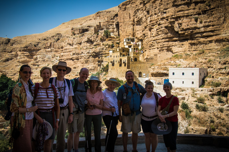 Our hike down into the dramatic Wadi Qelt led us to the fascinating Monastery of St. George and the countless hermit cells built into caves in the surrounding cliffs.