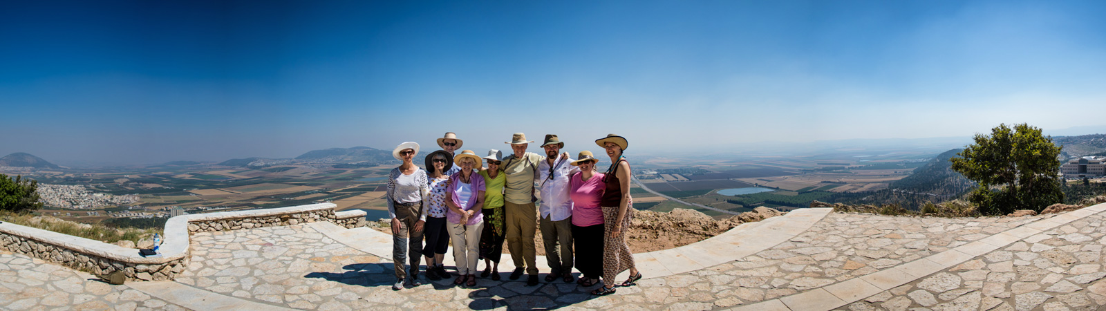 Then for lunch we went to a nearby vista that looks over both the Jezreel Valley and the city of Nazareth.