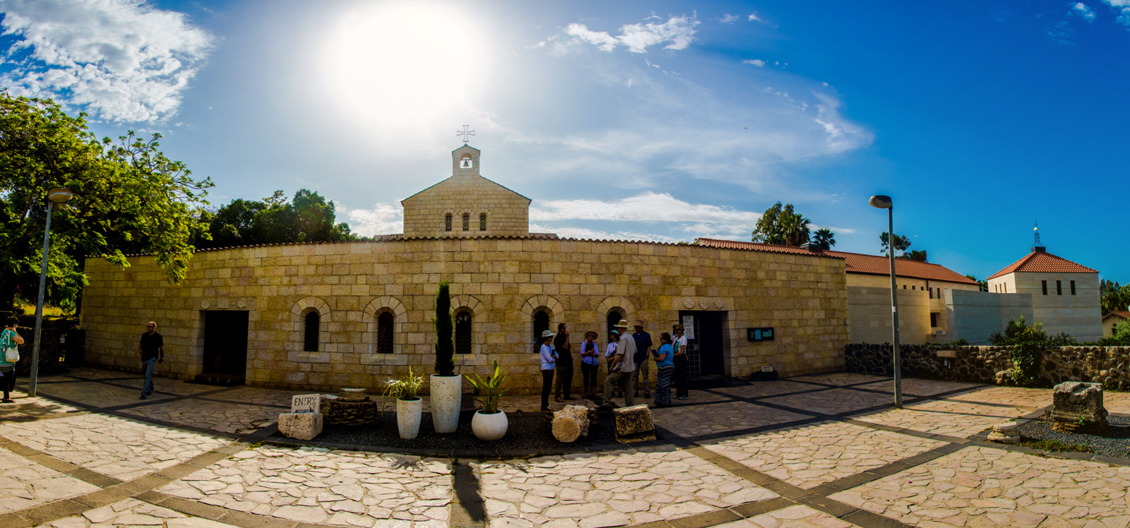 The rebuilt Church of the Multiplication of Loaves and Fishes at Tabgha (Seven Springs). It is like stepping into an authentic fourth century Byzantine church.