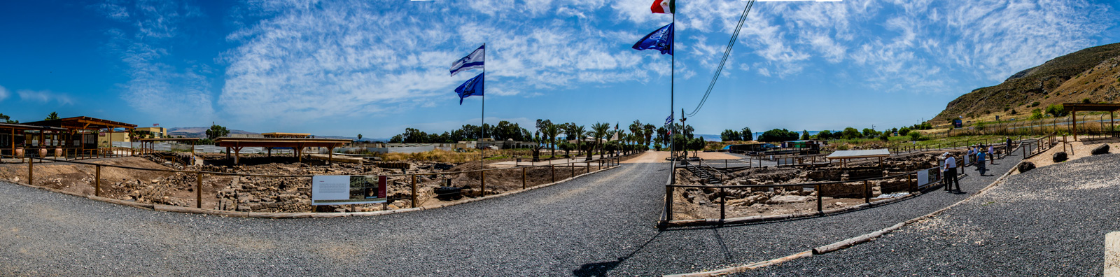 A panorama of the new excavations in Mary Magdalene's hometown of Magdala. The Israeli Antiquities Authority has stated it is the most important biblical archaeological discovery of the 21st century!