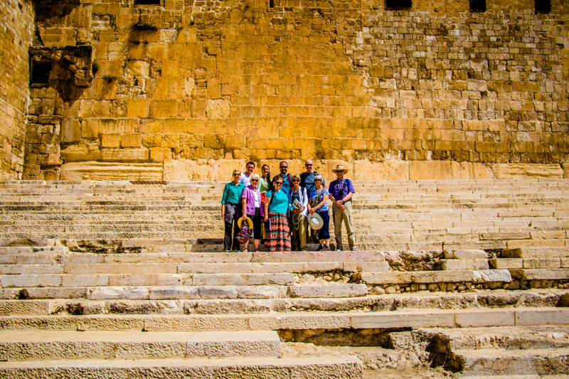 We climbed this huge staircase which leads up to the tunnel entrance onto the Temple Mount. Jesus and the disciples certainly climbed this staircase on their way to and from the Temple.