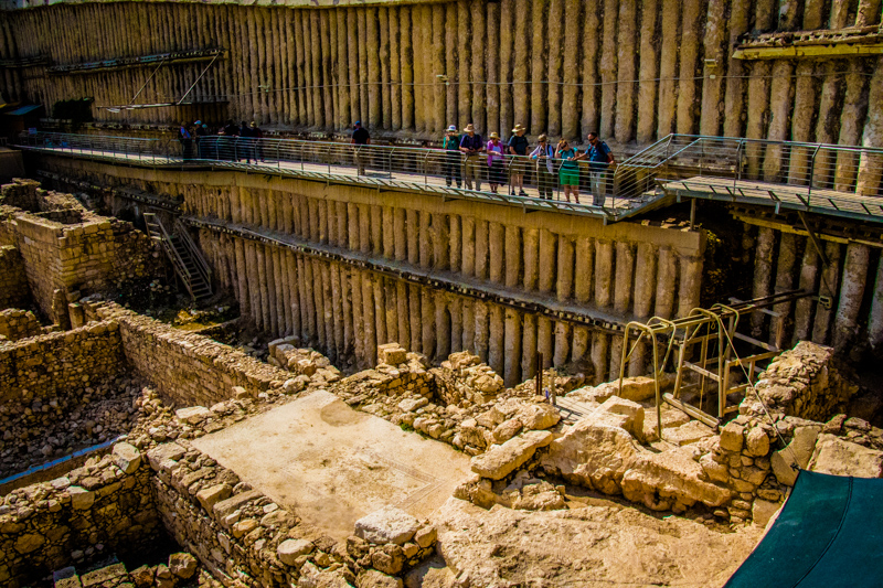 We excited the drainage channel into yet another massive archaeological excavation uncovered by a modern building project in Jerusalem!