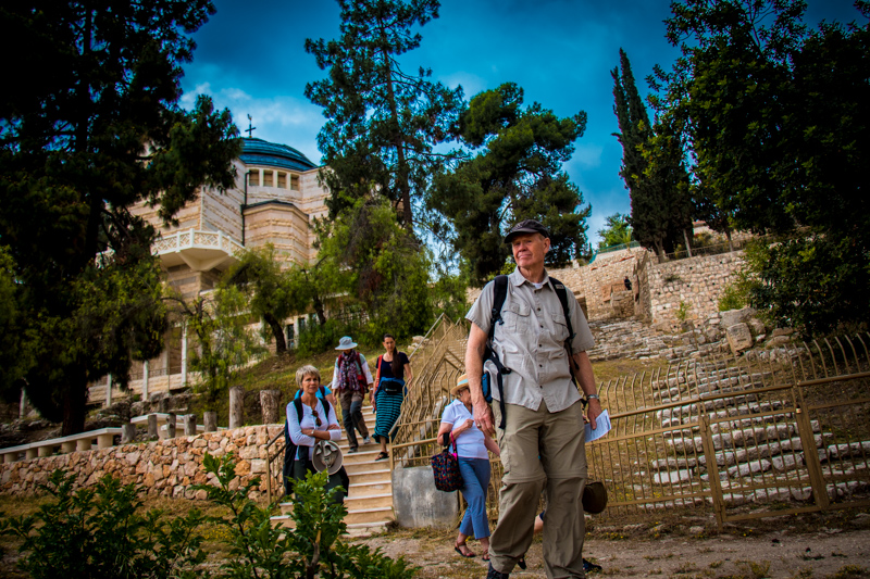 We returned to the city to visit the church that commemorates Jesus' sham trial before the religious authorities and saw the first-century stepped street that has been preserved there.