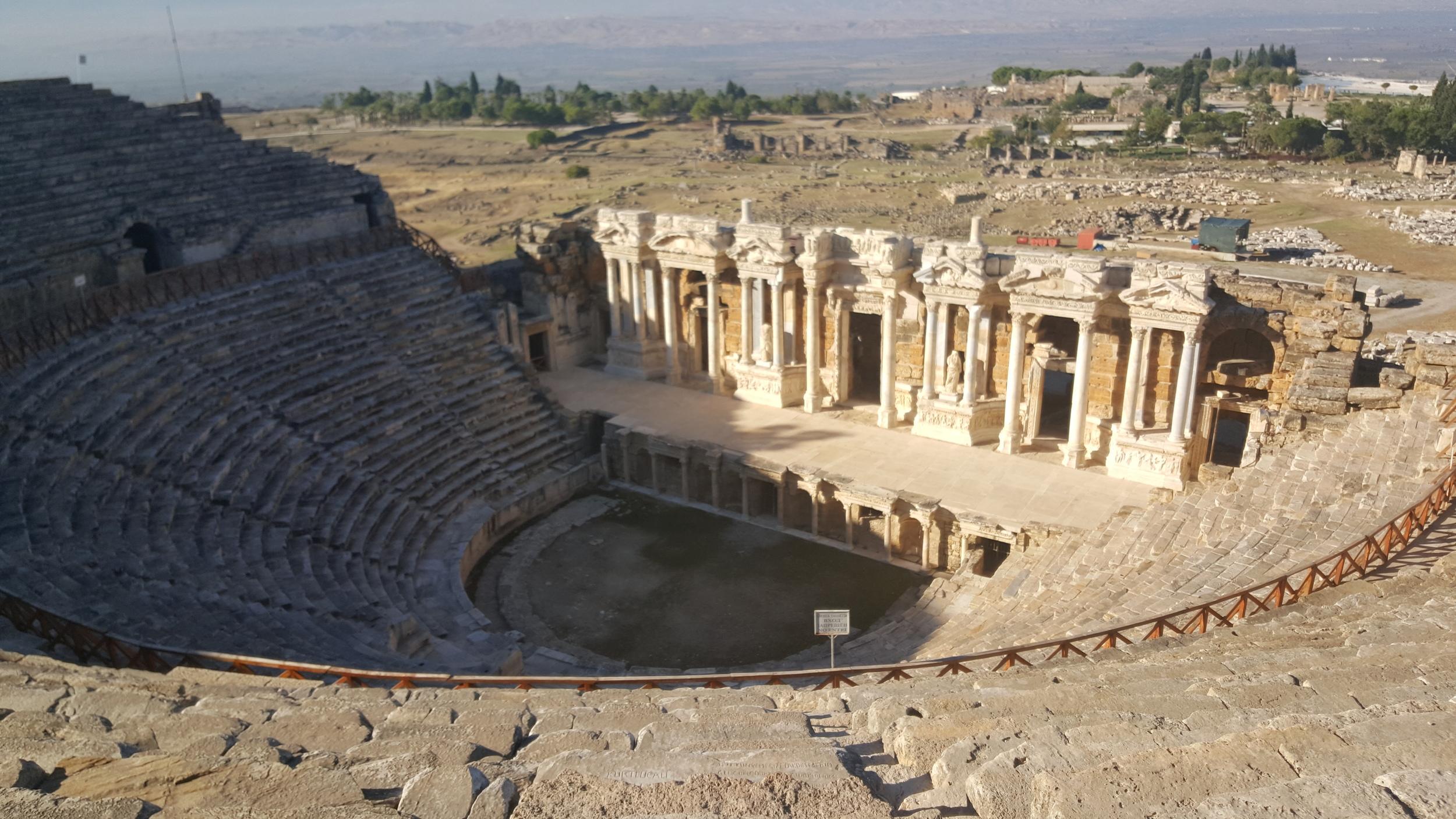 The Roman Theater in Heiropolis, Turkey