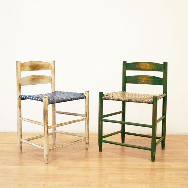 """""""Rump Shakers"""", 2019. . . . #steel #steelfurniture #steelchairs #shakerchairs #metal #metalwork #metalworking #fabrication #welding #weldlikeapro #weldlikeagirl #womenweldtoo #womenwhoweld #furniture #furnituredesign #craft #craftswoman #craftsperson #rust #rustneversleeps #weaving #rumpshakers #chairnerd"""