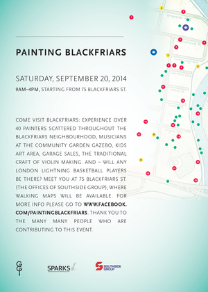 Painting Blackfriars - Print design for local, non-profit art event