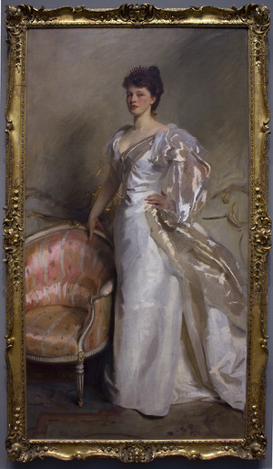 "Mrs. George Swinton (nee Elizabeth ""'Elsie"" Ebsworth) painted by John Singer Sargent"