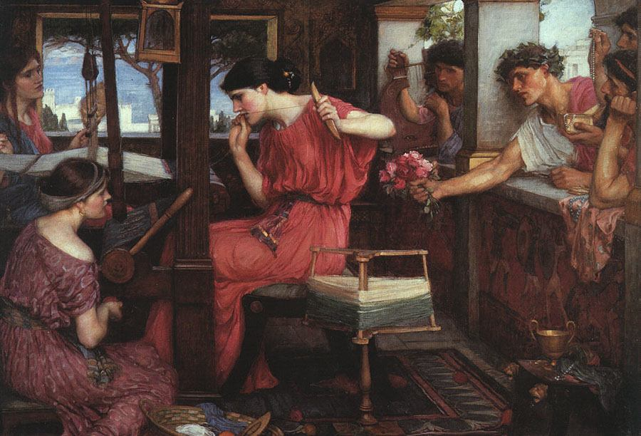 Penelope at Her Loom, John William Waterhouse (1912)