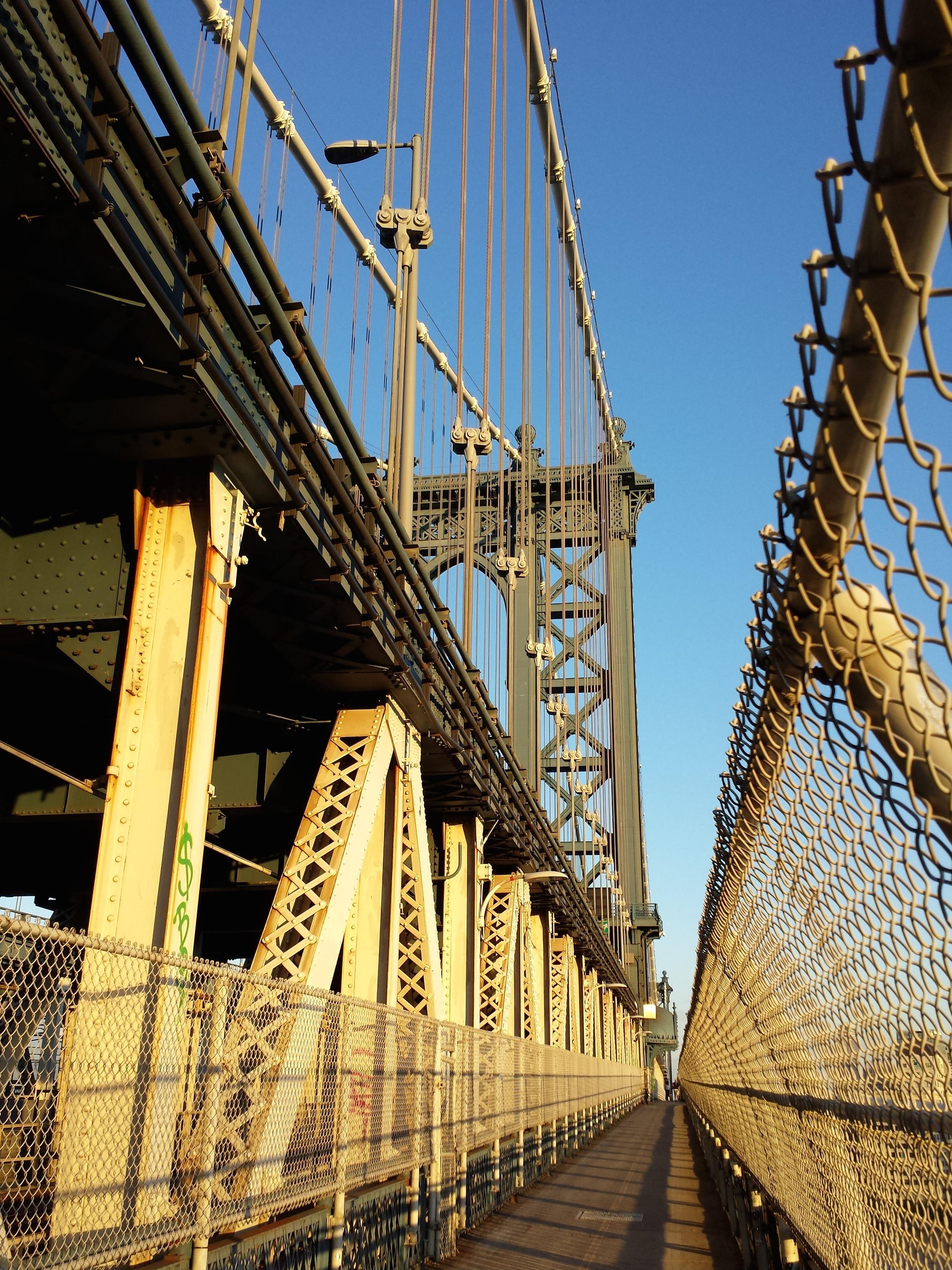 Cyclone fency! Manhattan Bridge, between Manhattan and Brooklyn.