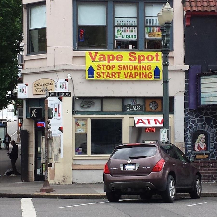 """Vape Spot"" SW 3rd & Burnside, Portland"