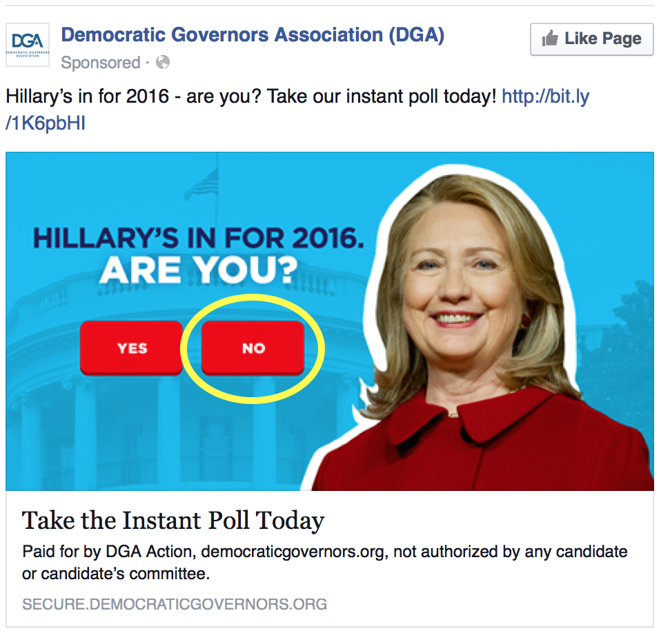 "Ad in my Facebook feed. No, lazybones, I won't link to the ""instant poll"" for you."