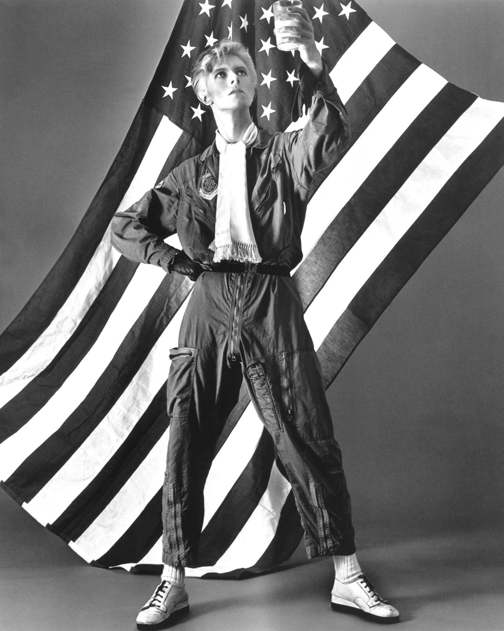 David Bowie favors the U.S. flag and milk.
