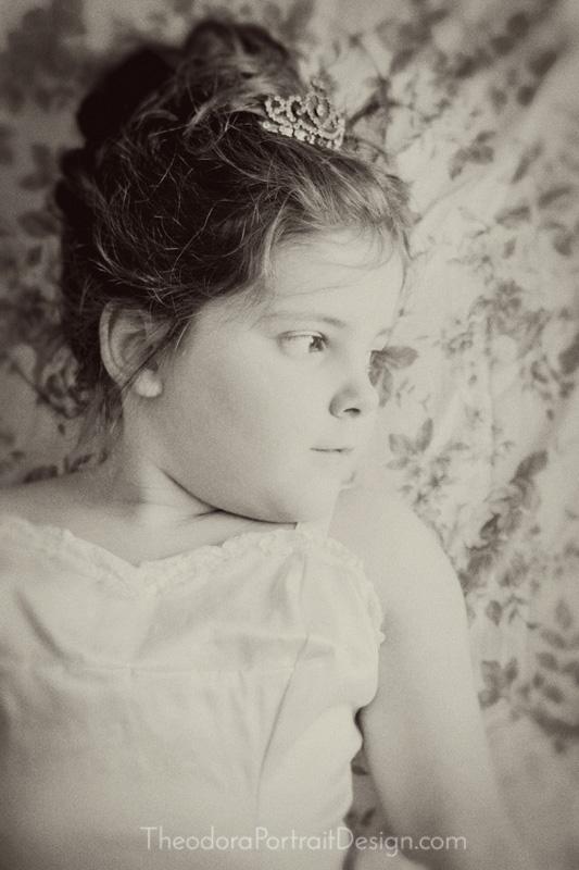 girl's ballerina portrait by  Theodora Portrait Design