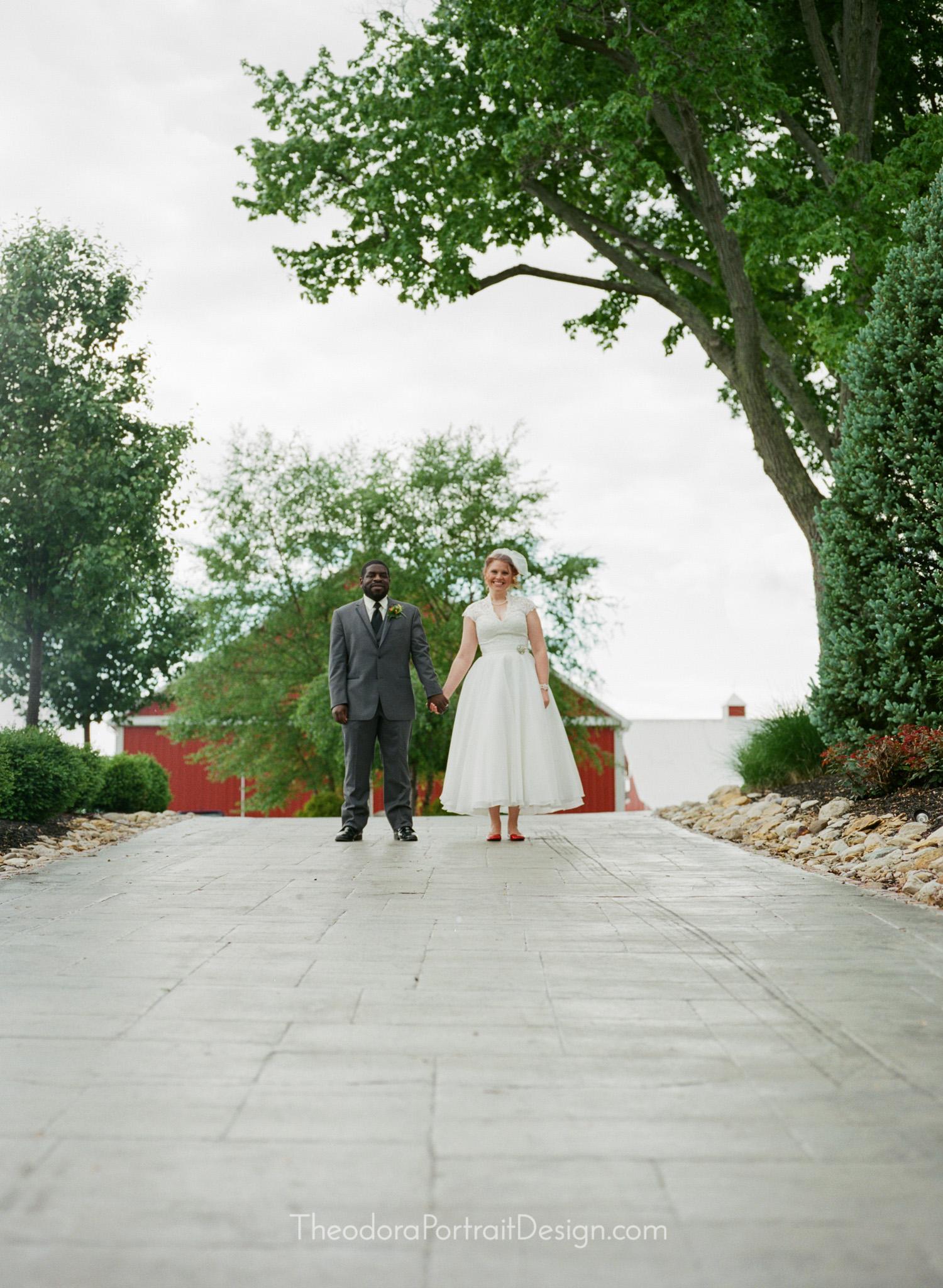 bride and groom     www.TheodoraPortraitDesign.com   film wedding photography