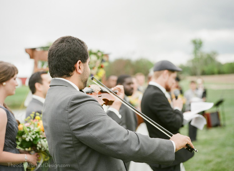 wedding poetry reading with violin music     www.TheodoraPortraitDesign.com   film wedding photography