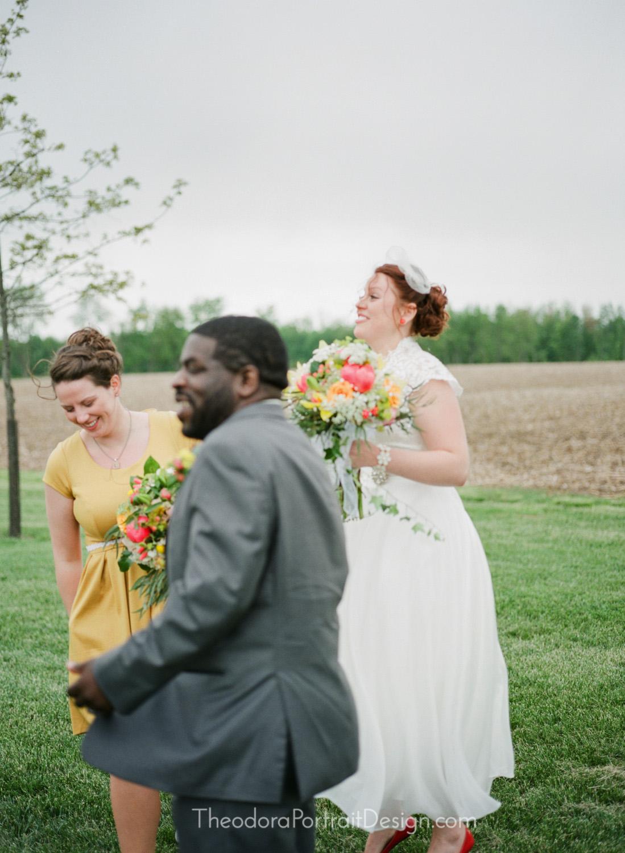 newlyweds   www.TheodoraPortraitDesign.com   film wedding photography